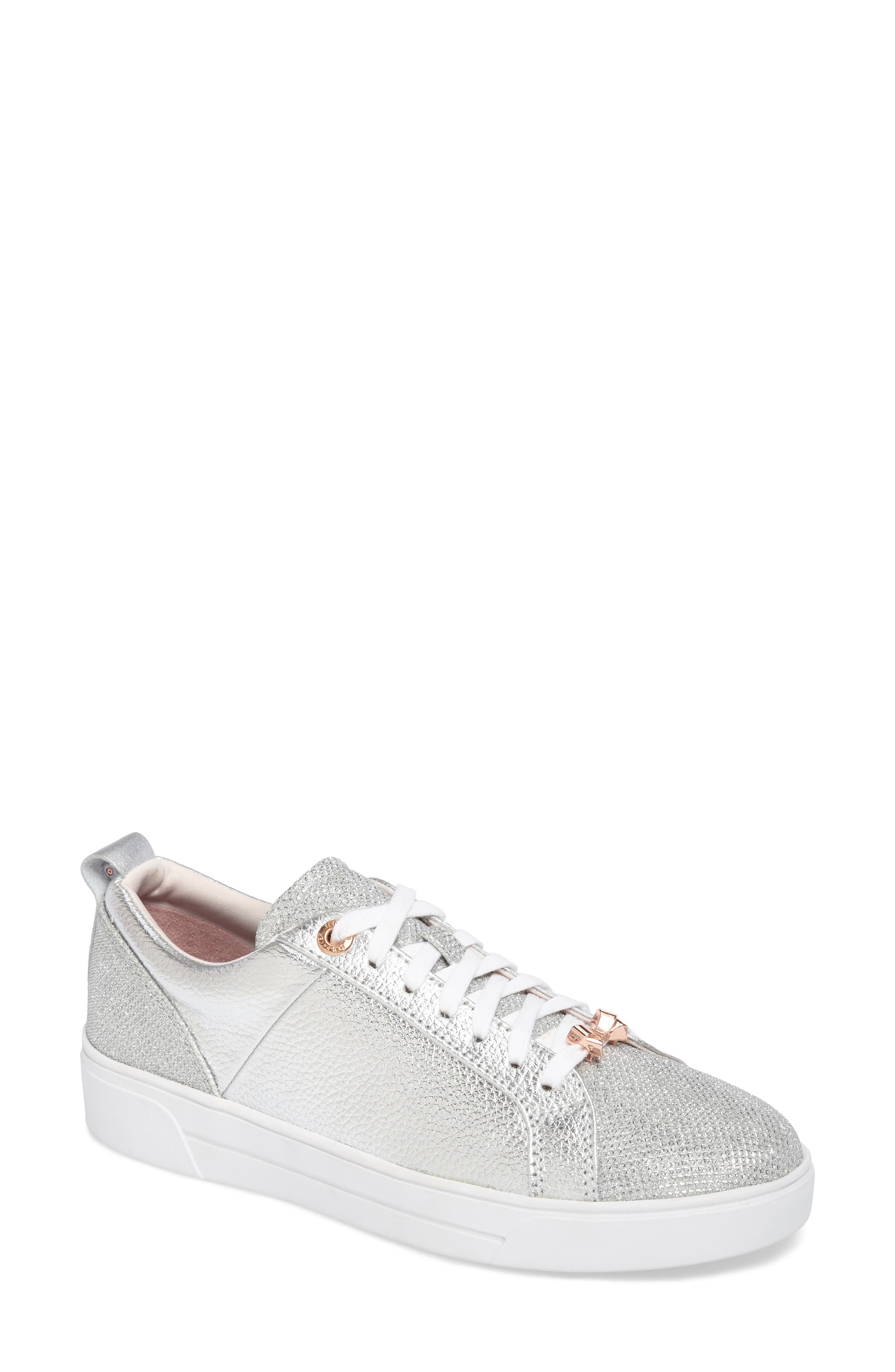 Kulei Sneaker,                         Main,                         color, Silver Leather