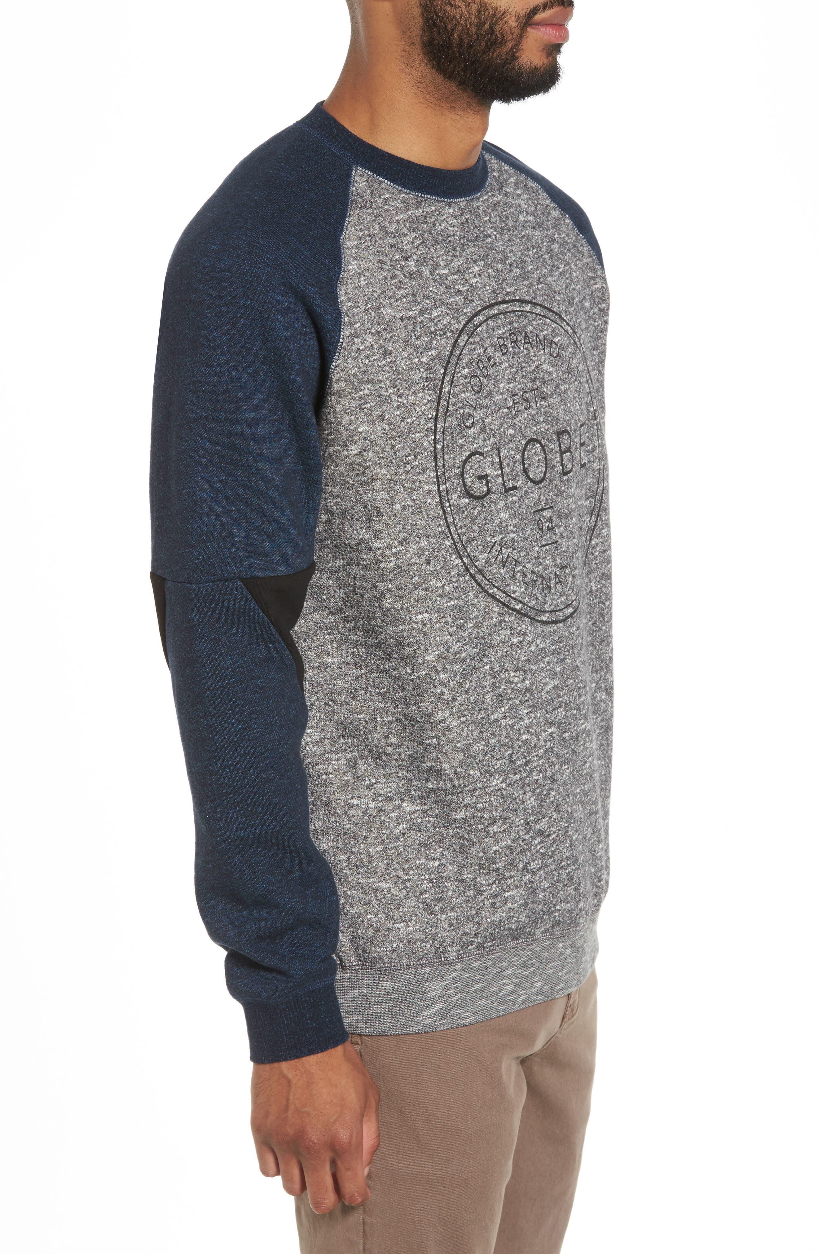 Winson Graphic Sweatshirt,                             Alternate thumbnail 3, color,                             Grey Speckle
