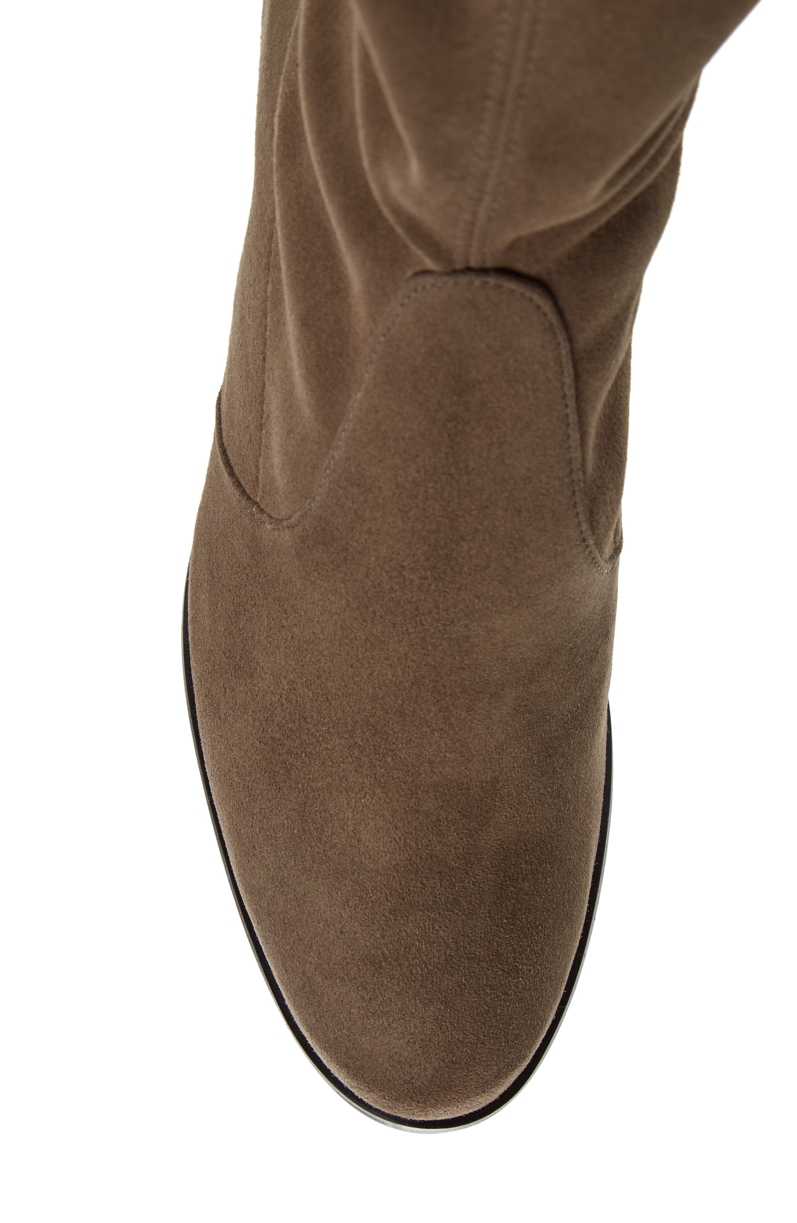 Tieland Over the Knee Boot,                             Alternate thumbnail 4, color,                             Praline Suede