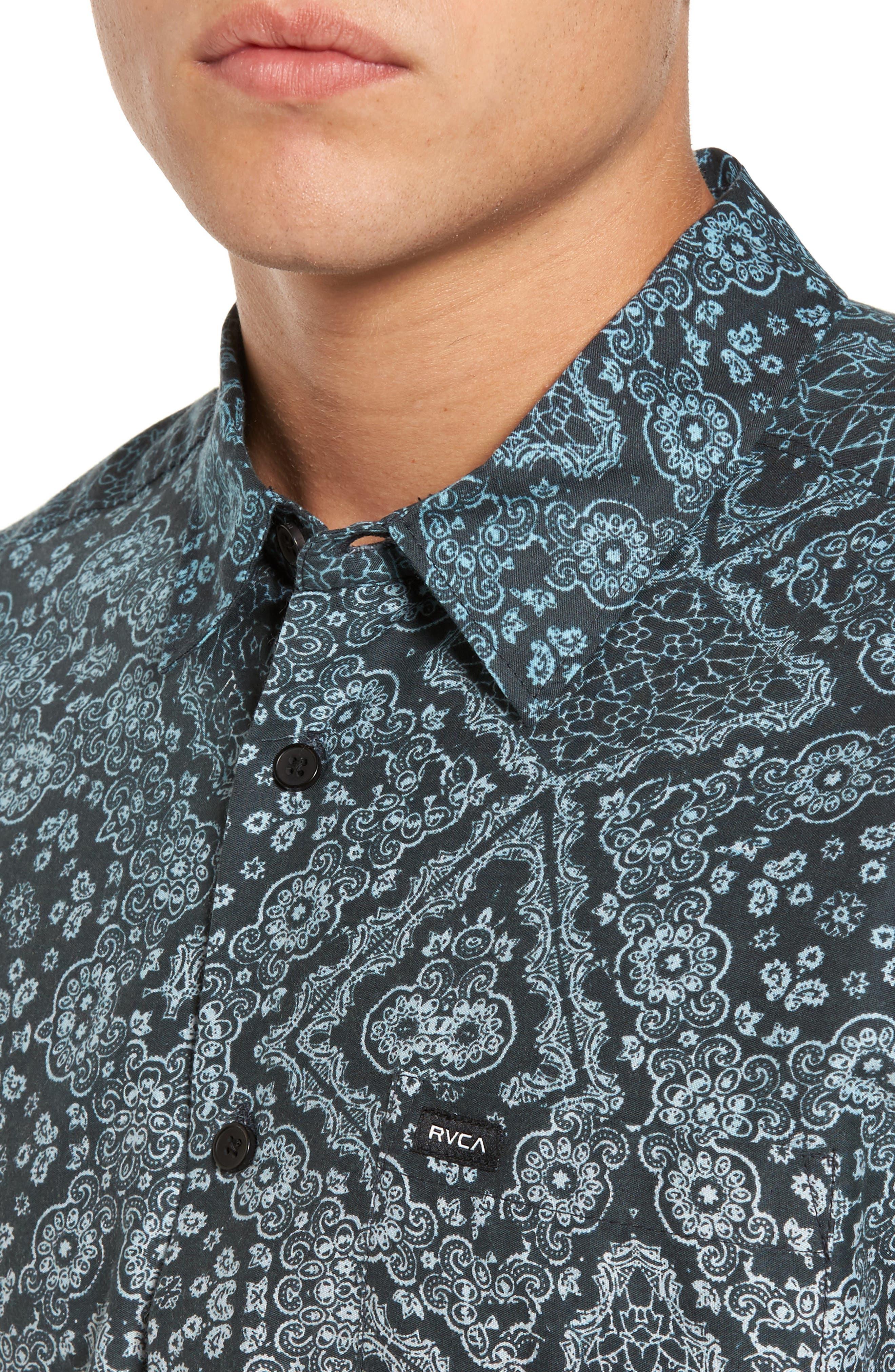 Alternate Image 4  - RVCA I Like It Print Shirt
