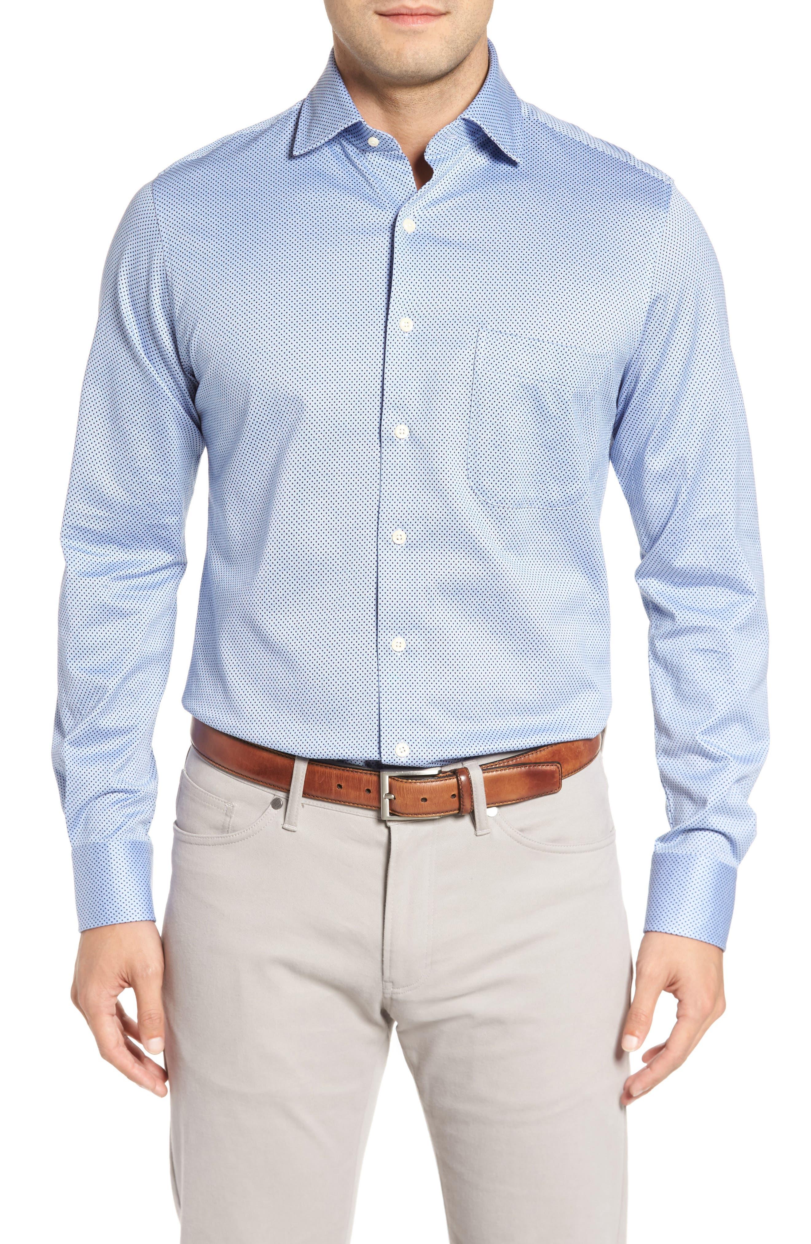 Main Image - Peter Millar Mesh Dot Classic Fit Sport Shirt