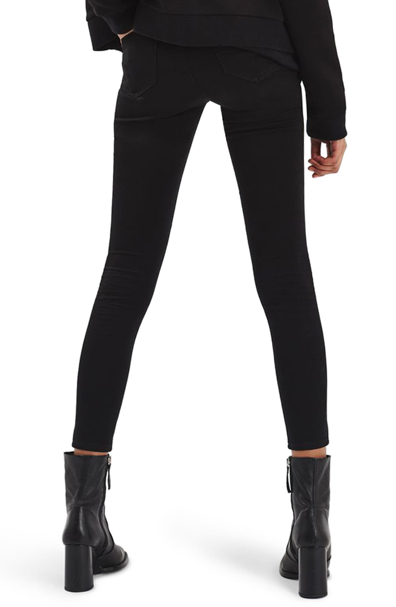Leigh Super Rip Skinny Jeans,                             Alternate thumbnail 2, color,                             Black