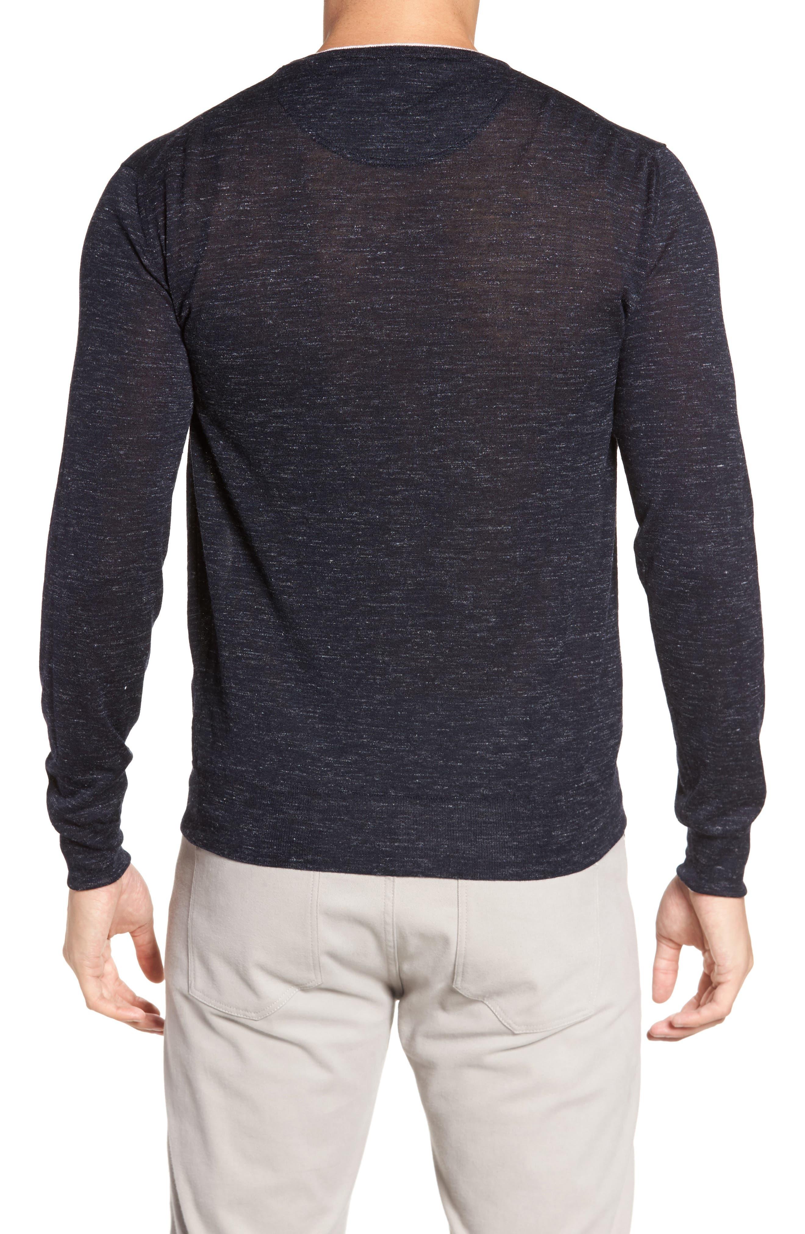 Summertime Crewneck Cotton & Silk Sweater,                             Alternate thumbnail 2, color,                             Barchetta