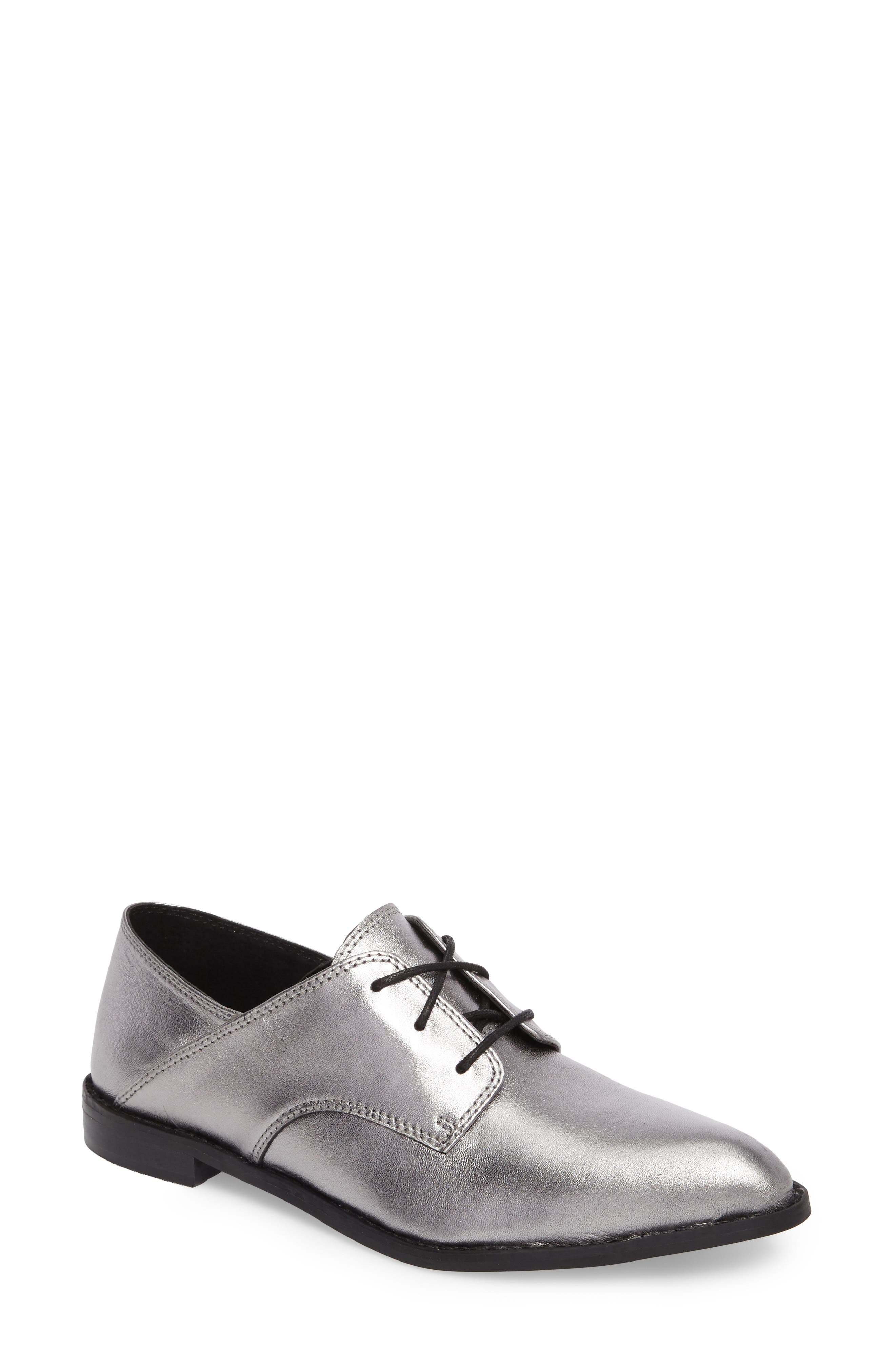 Corbin Oxford,                             Main thumbnail 1, color,                             Pewter Leather