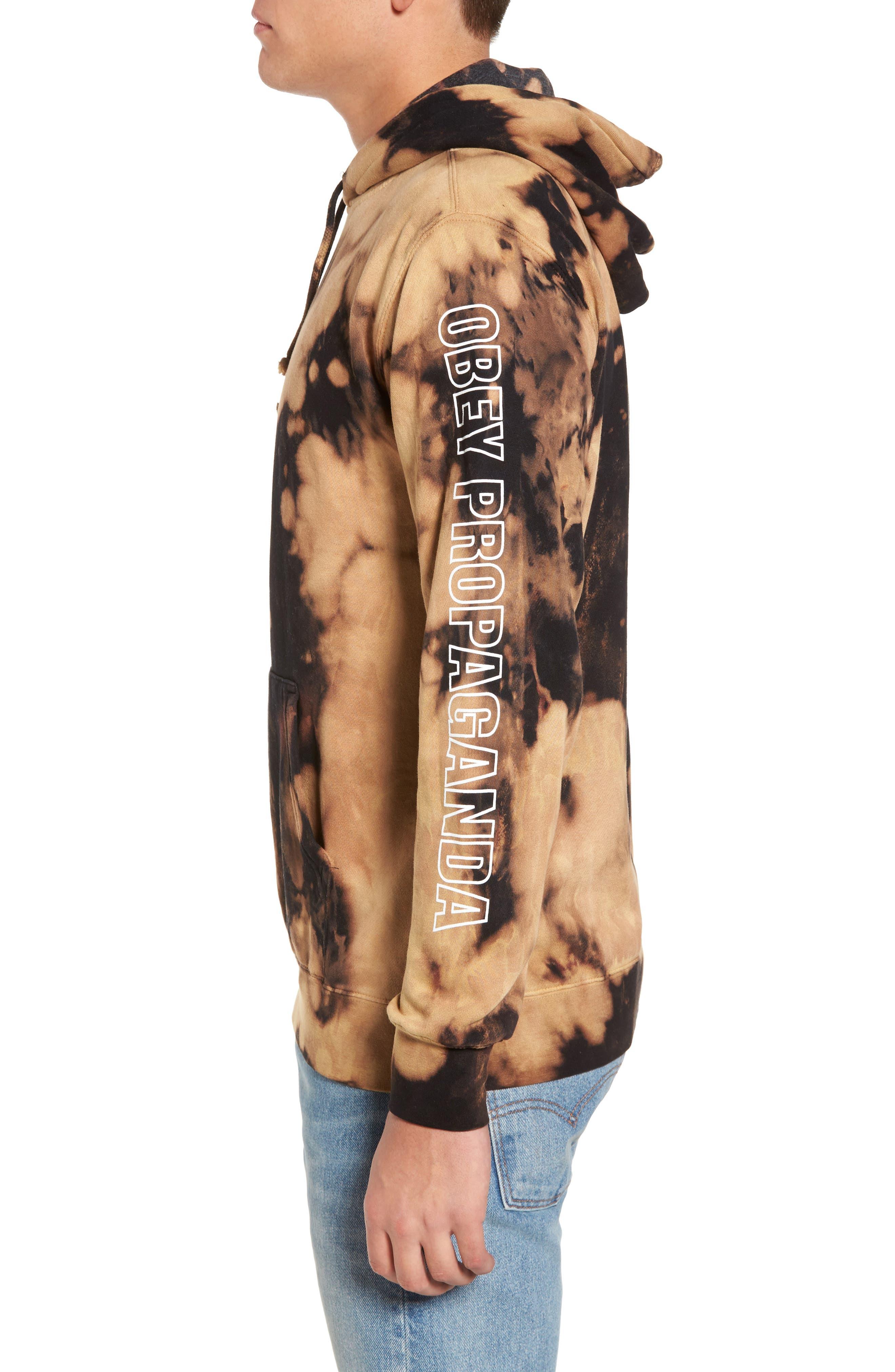 Alternate Image 4  - Obey Rough Draft Tie Dye Fleece Hoodie