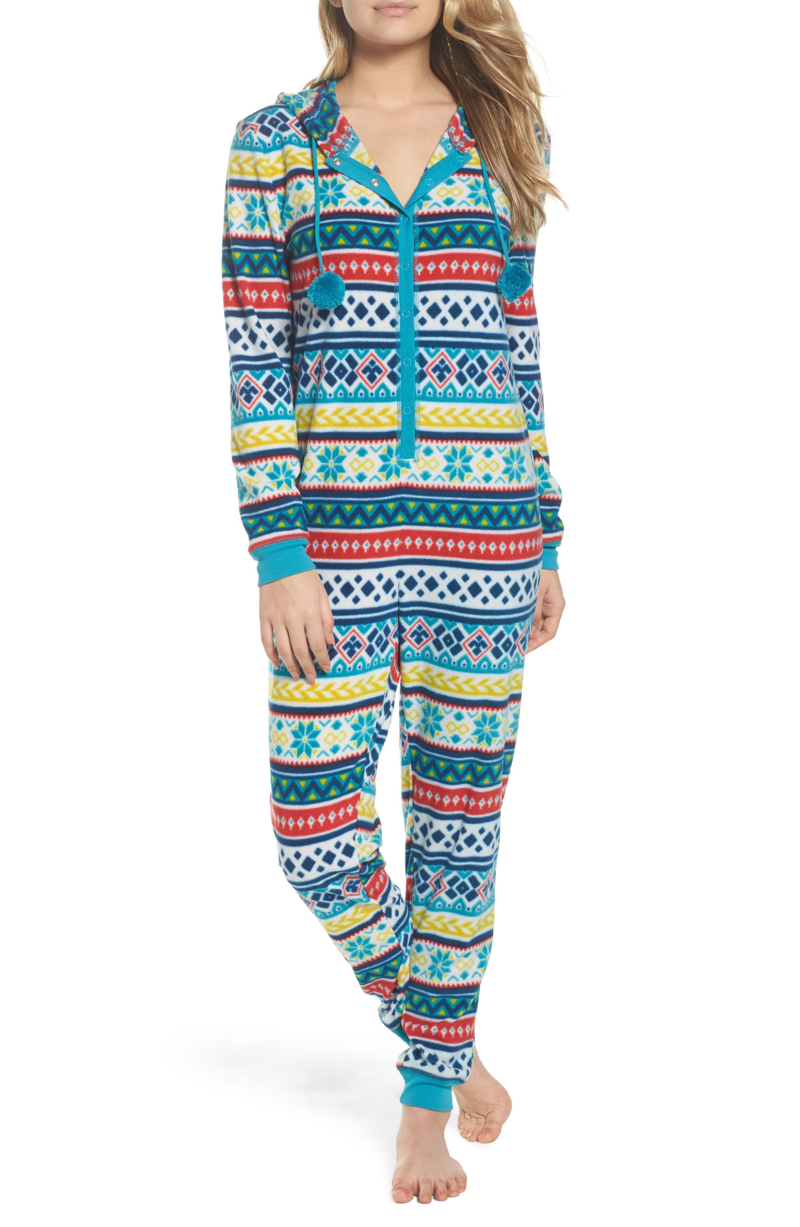 Make + Model Hooded Pajama Jumpsuit