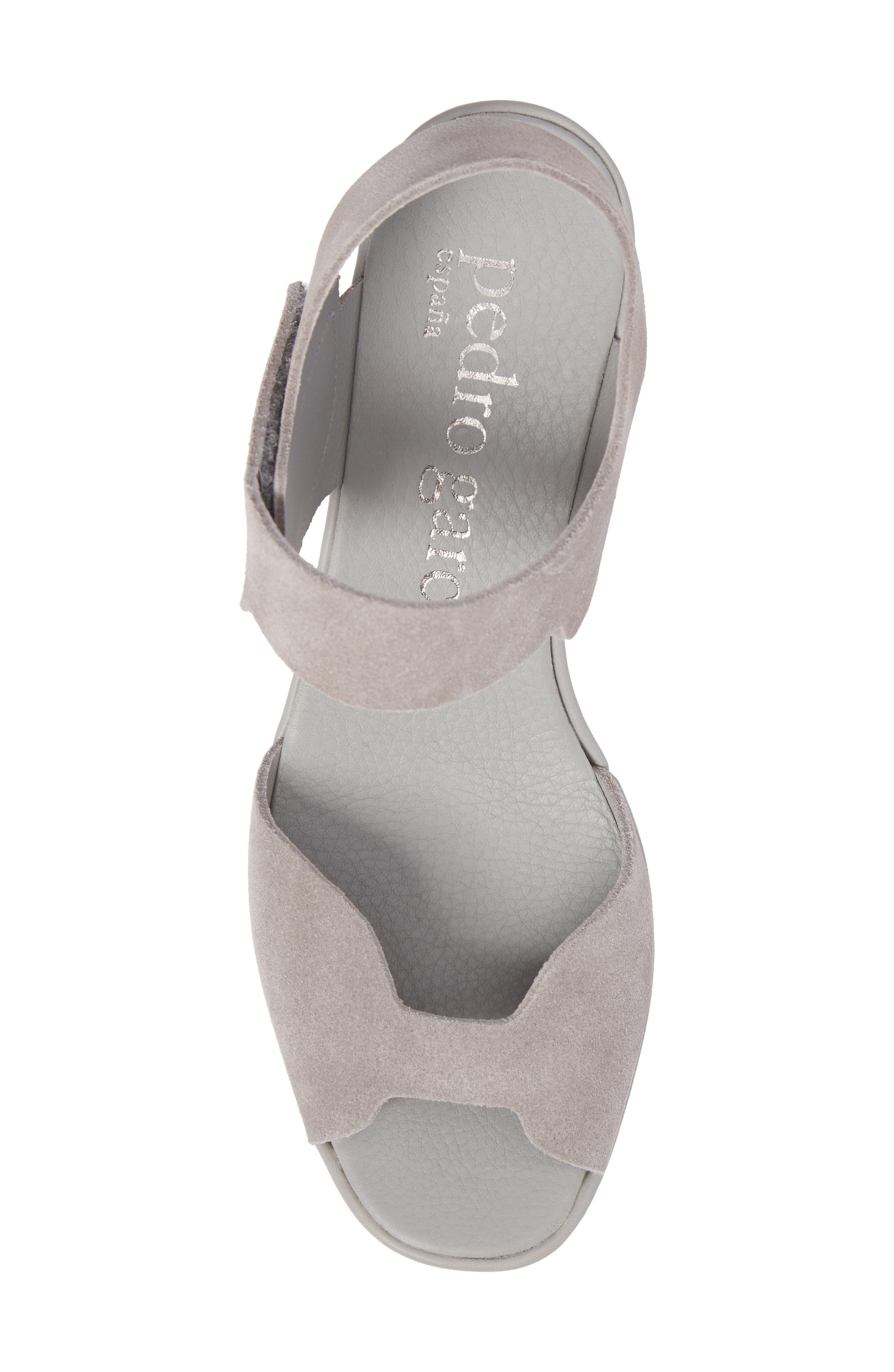 Fah Platform Wedge Sandal,                             Alternate thumbnail 5, color,                             Pumice Castoro