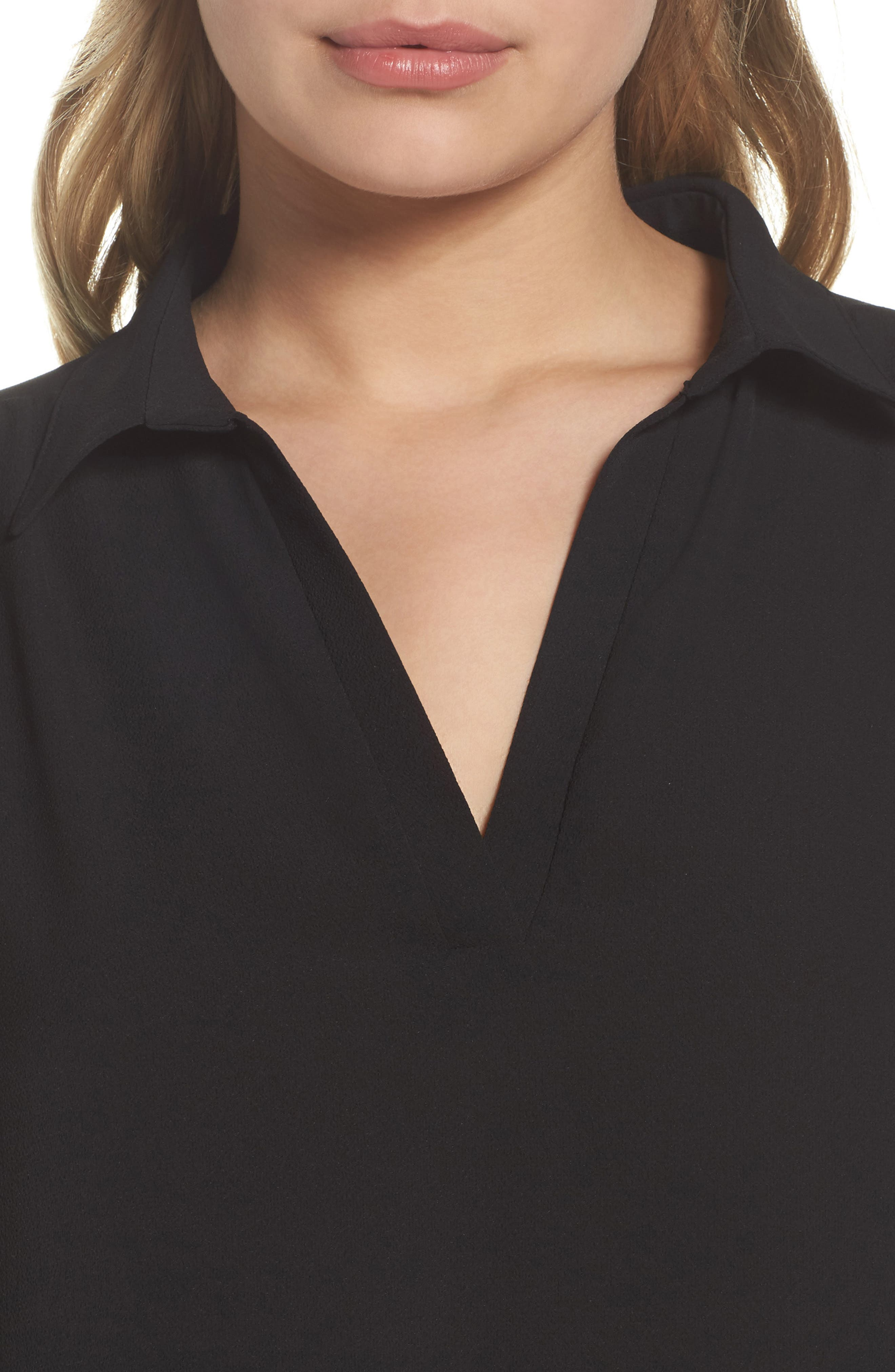 Shirtdress,                             Alternate thumbnail 4, color,                             Black