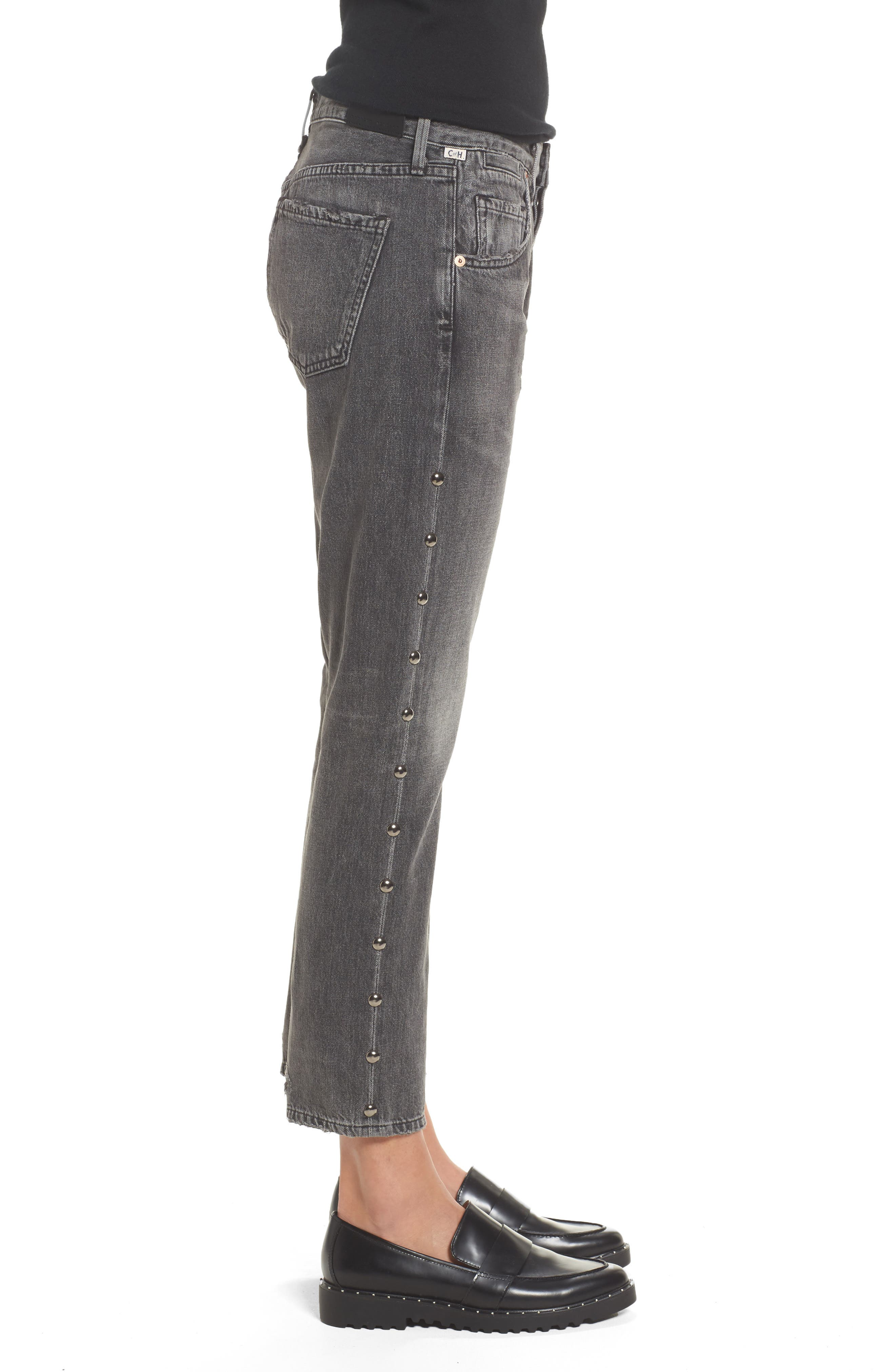 Alternate Image 3  - Citizens of Humanity Emerson Studded Slim Boyfriend Jeans (Studded Hideout)