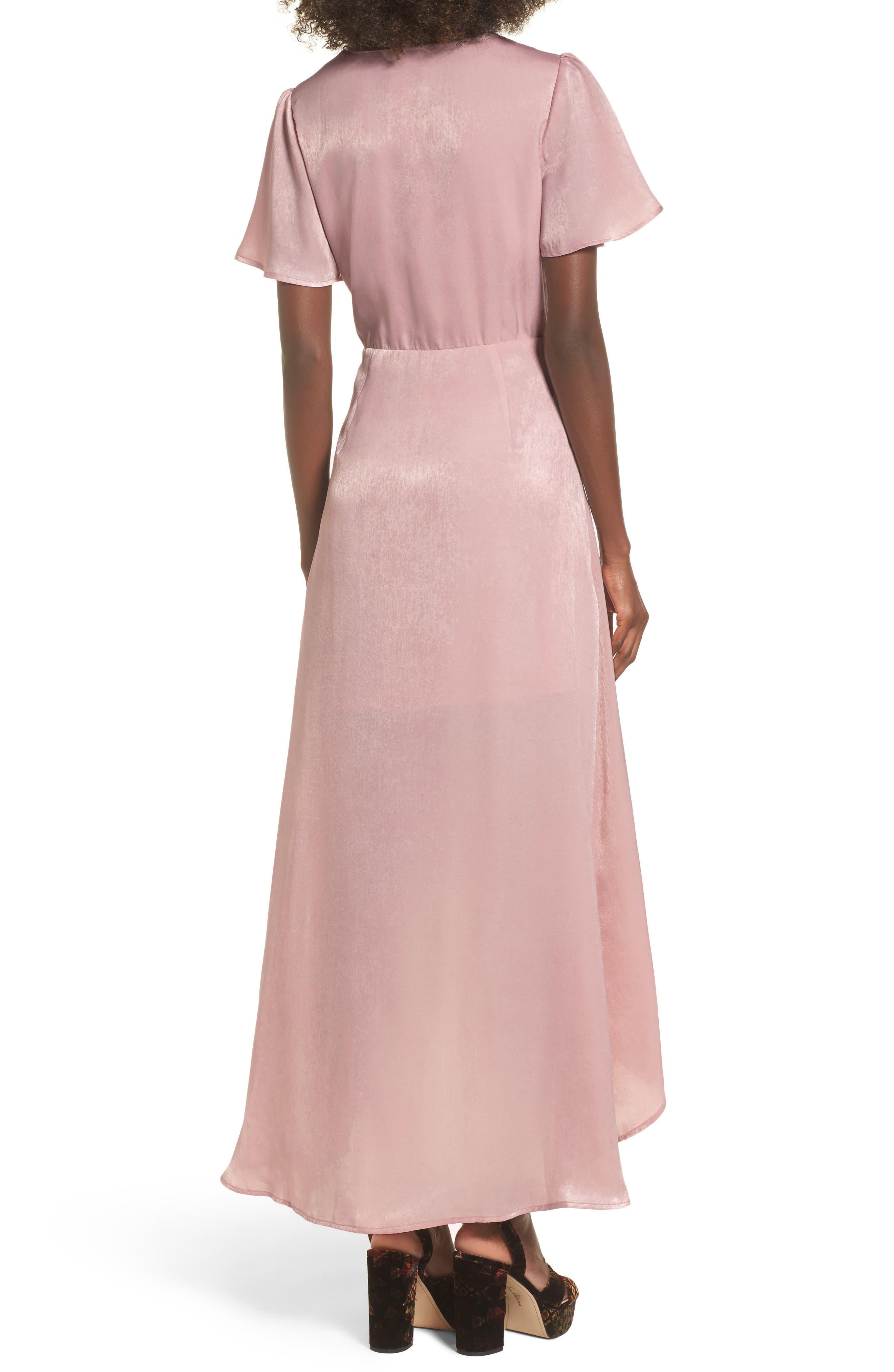 Wrap Maxi Dress,                             Alternate thumbnail 2, color,                             Ballet Pink