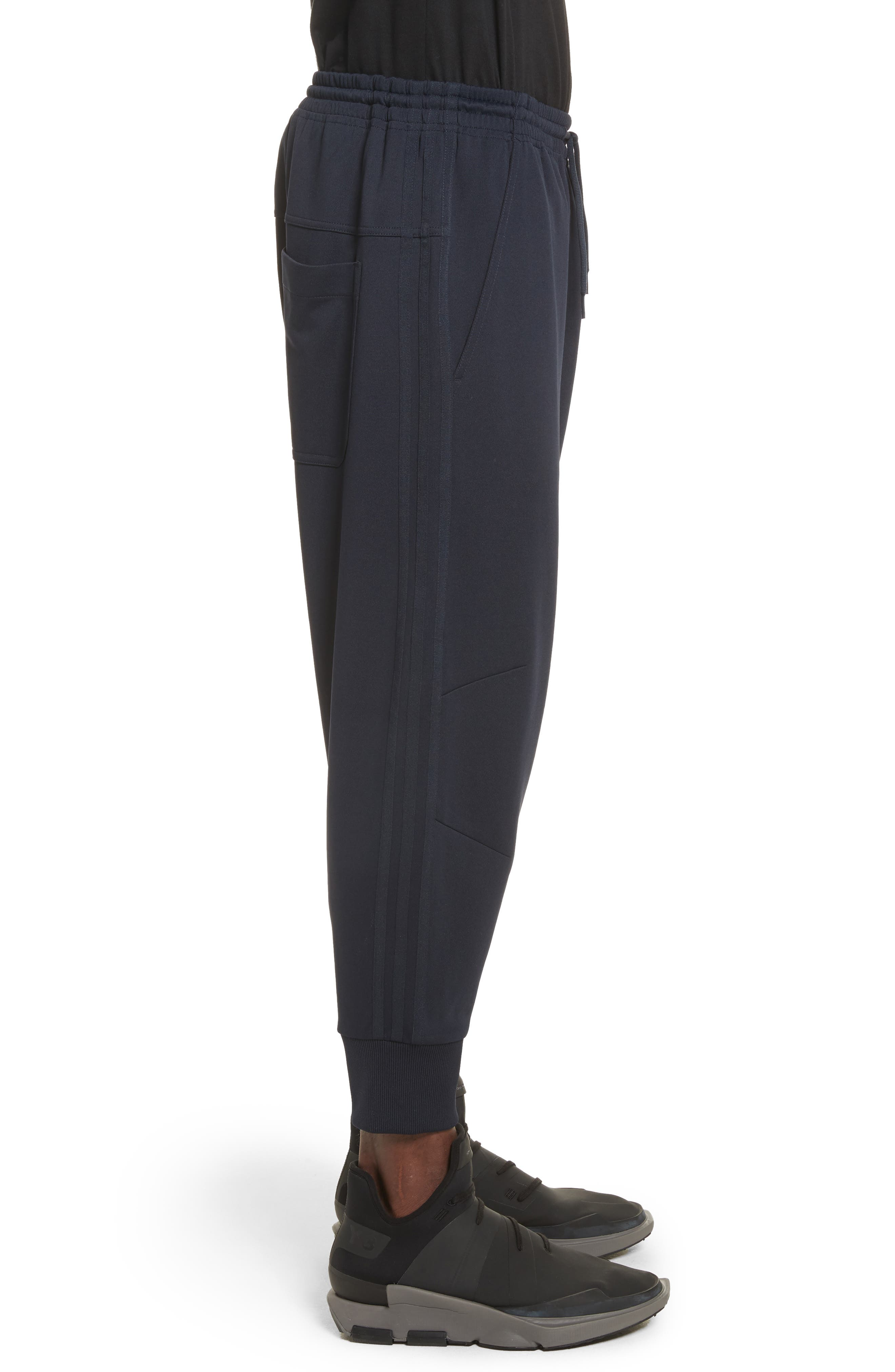 x adidas Cropped Track Pants,                             Alternate thumbnail 4, color,                             Navy