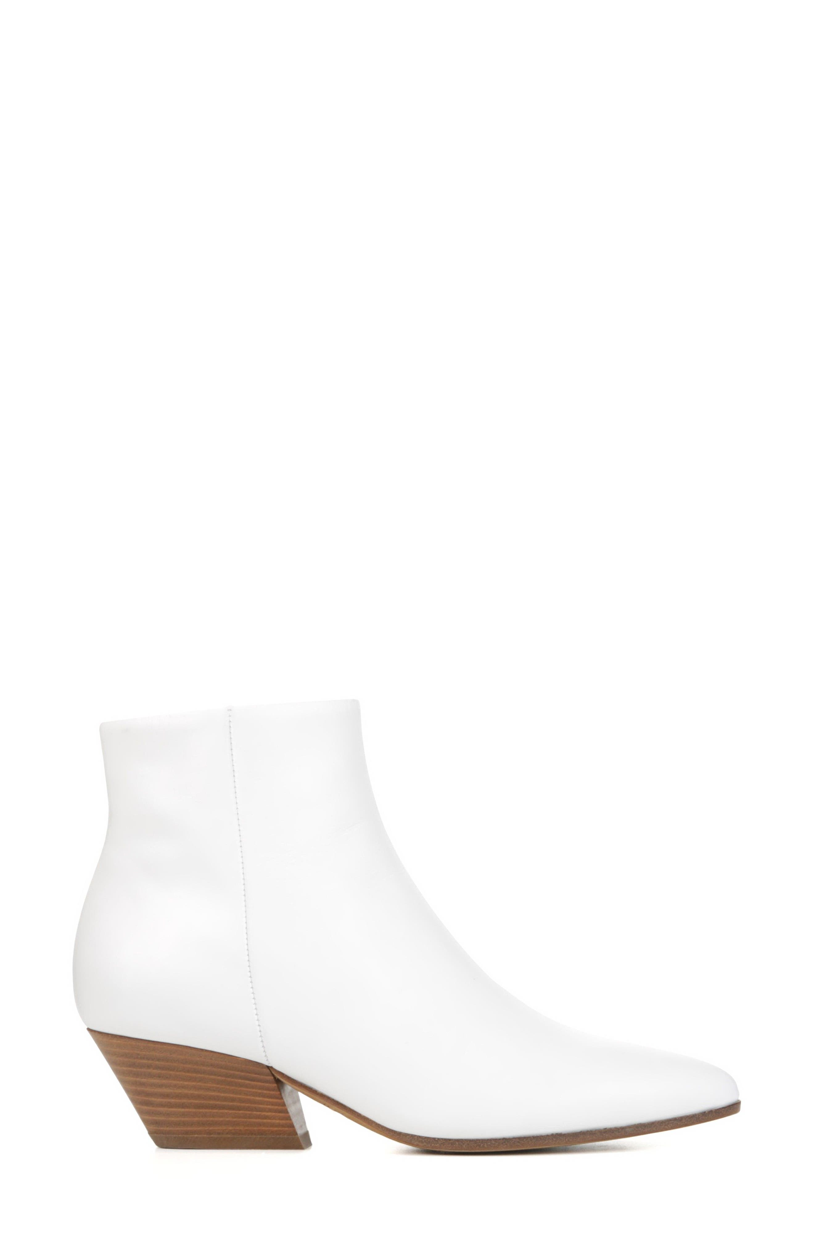 Vaughn Bootie,                             Alternate thumbnail 3, color,                             Optic White Leather