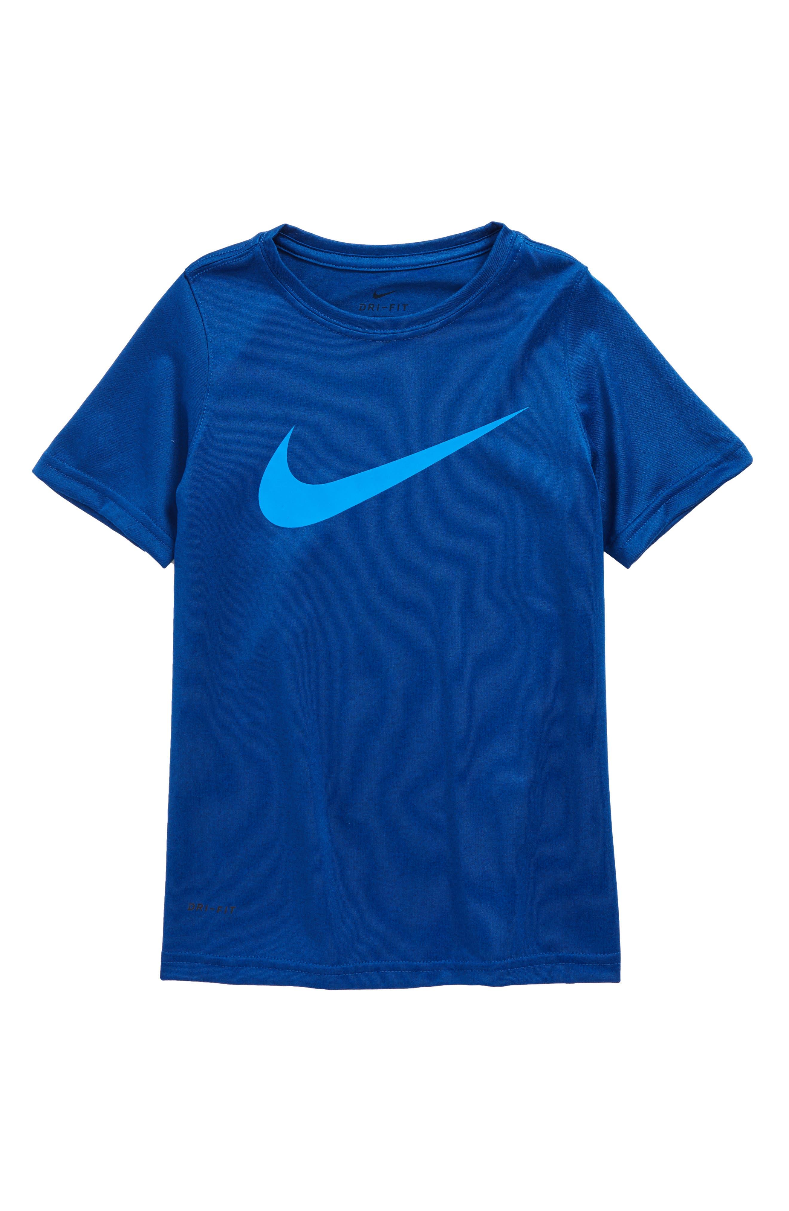 Dry Swoosh T-Shirt,                             Main thumbnail 1, color,                             Gym Blue/ Photo Blue