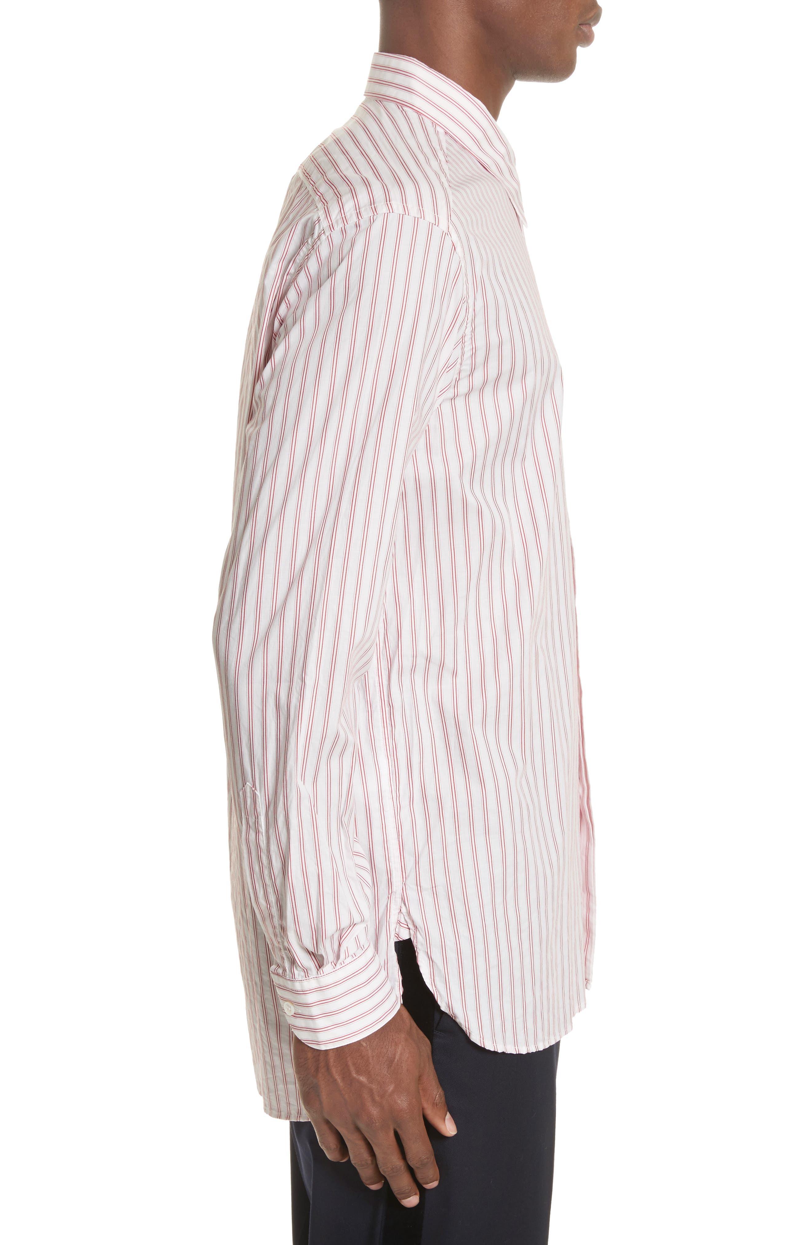 Aega Striped Sport Shirt,                             Alternate thumbnail 5, color,                             Unico