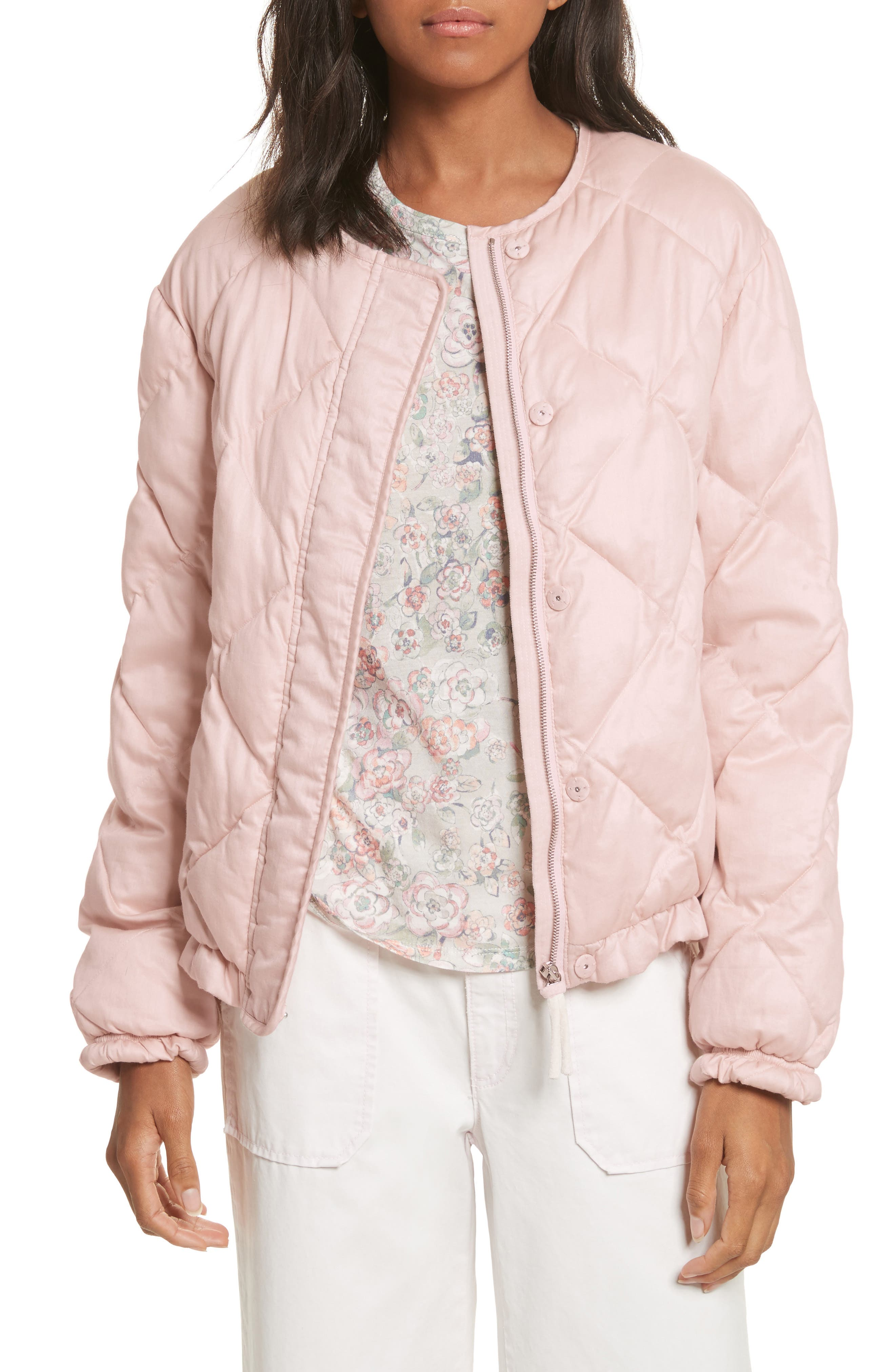 La Vie Rebecca Taylor Quilted Washed Sateen Jacket