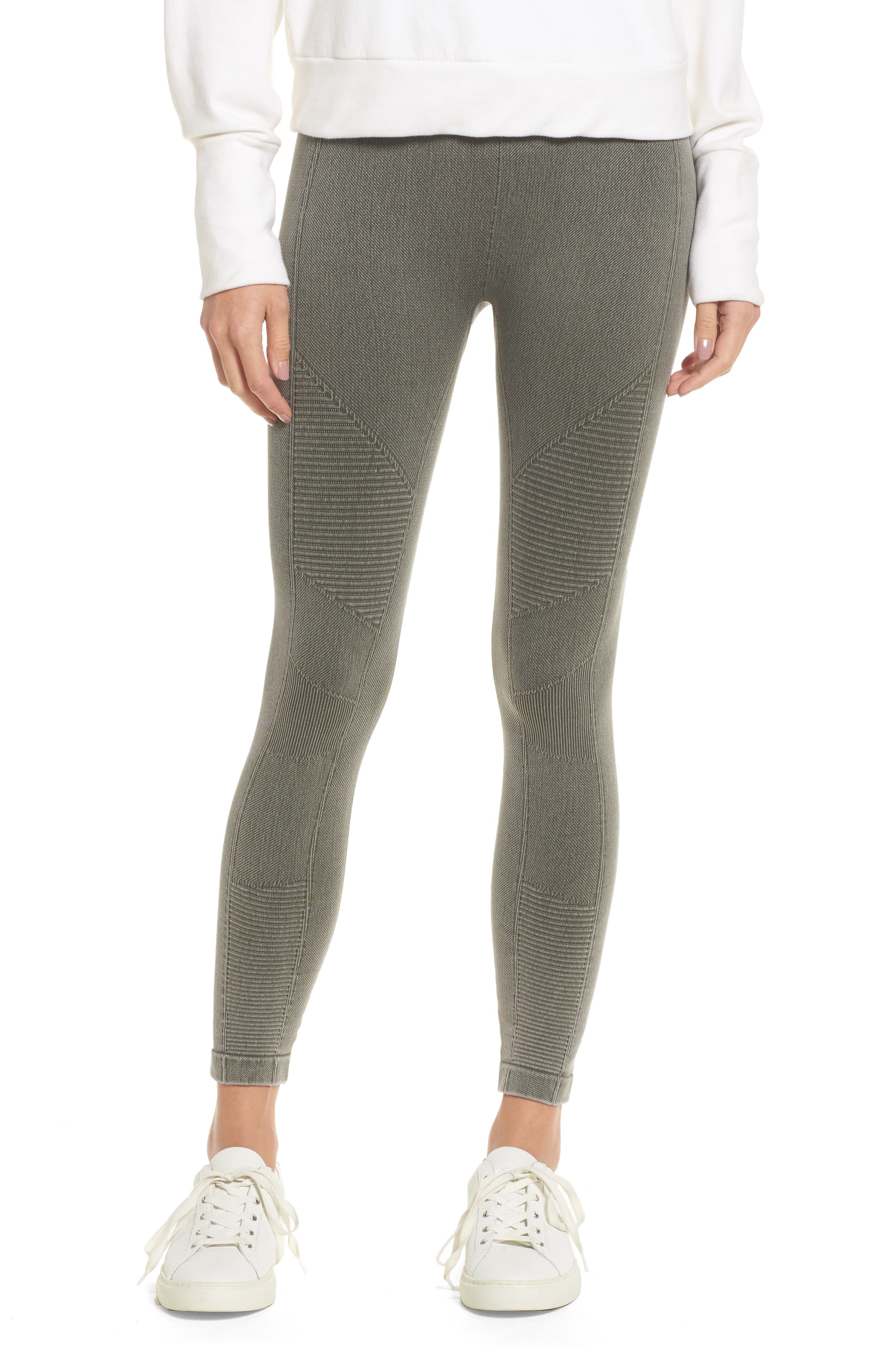 Washed Moto Seamless Skimmer Leggings,                         Main,                         color, Fatigue Green
