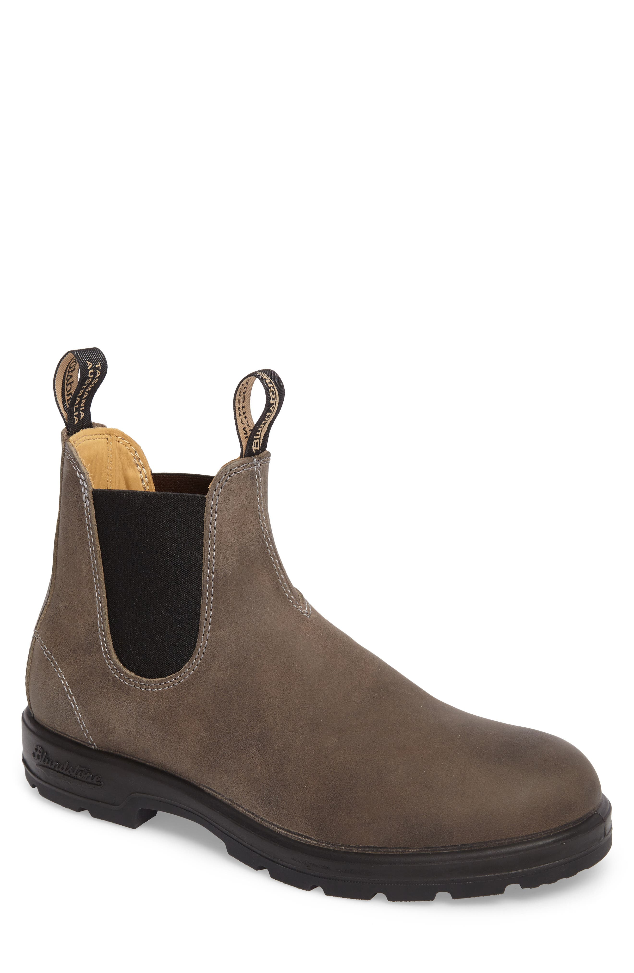 Footwear Chelsea Boot,                             Main thumbnail 1, color,                             Steel Grey Leather