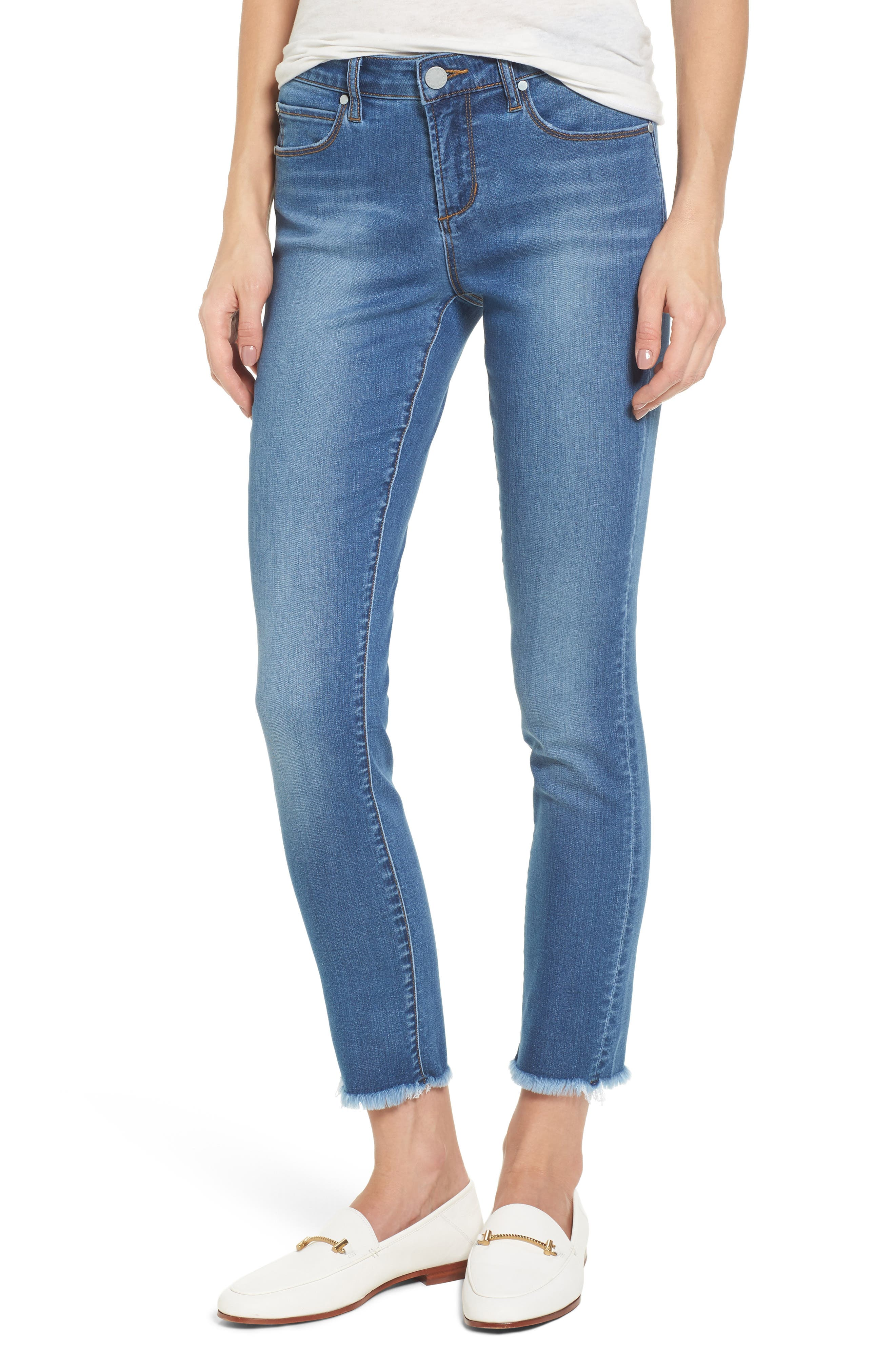Main Image - Articles of Society Carly Ankle Skinny Jeans (Sparta)