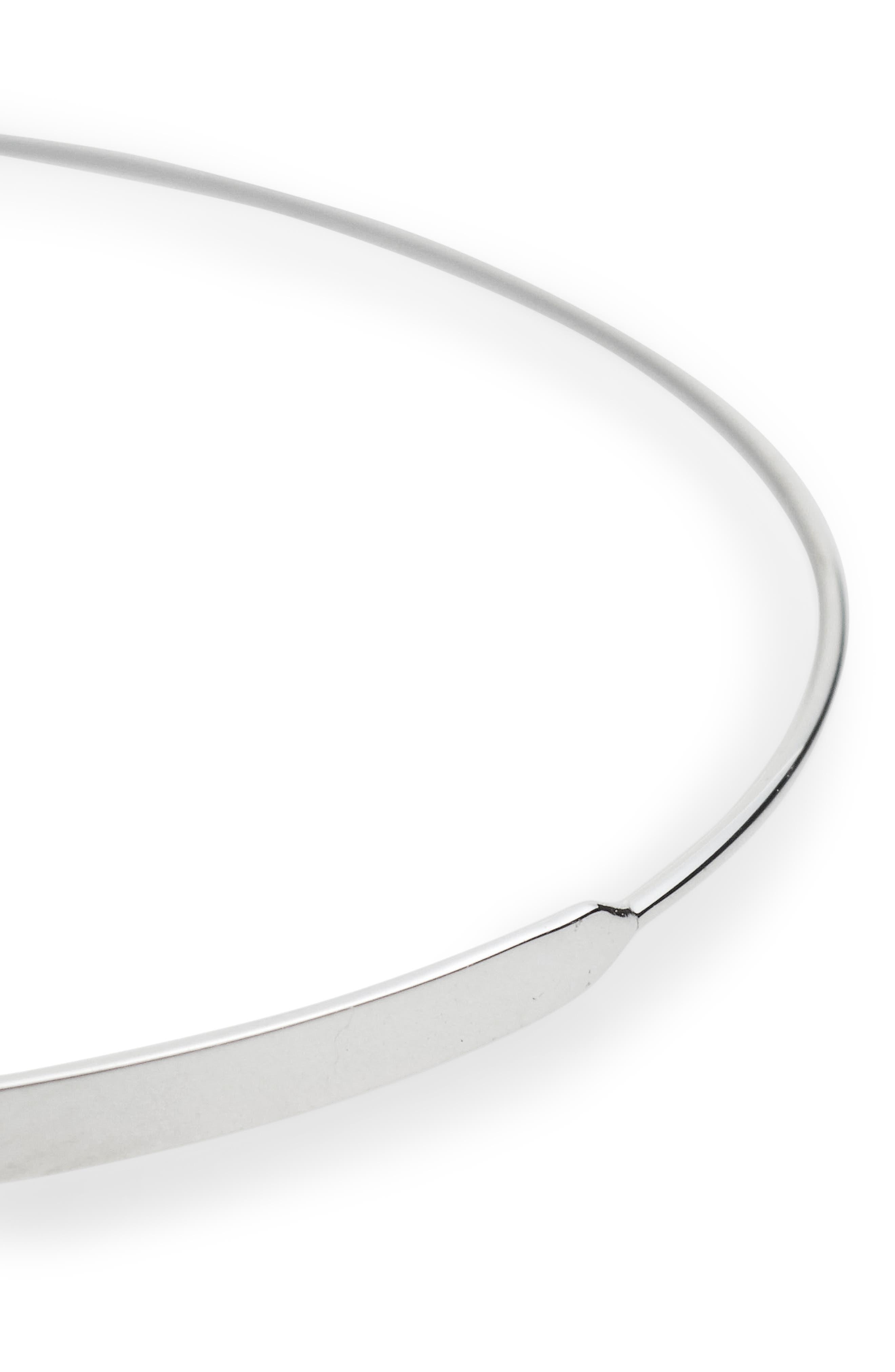 'Flat Magic' Medium Hoop Earrings,                             Alternate thumbnail 4, color,                             White Gold