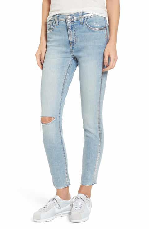 Current/Elliott The Stiletto High Waist Skinny Jeans (Seville Destroy Foil)