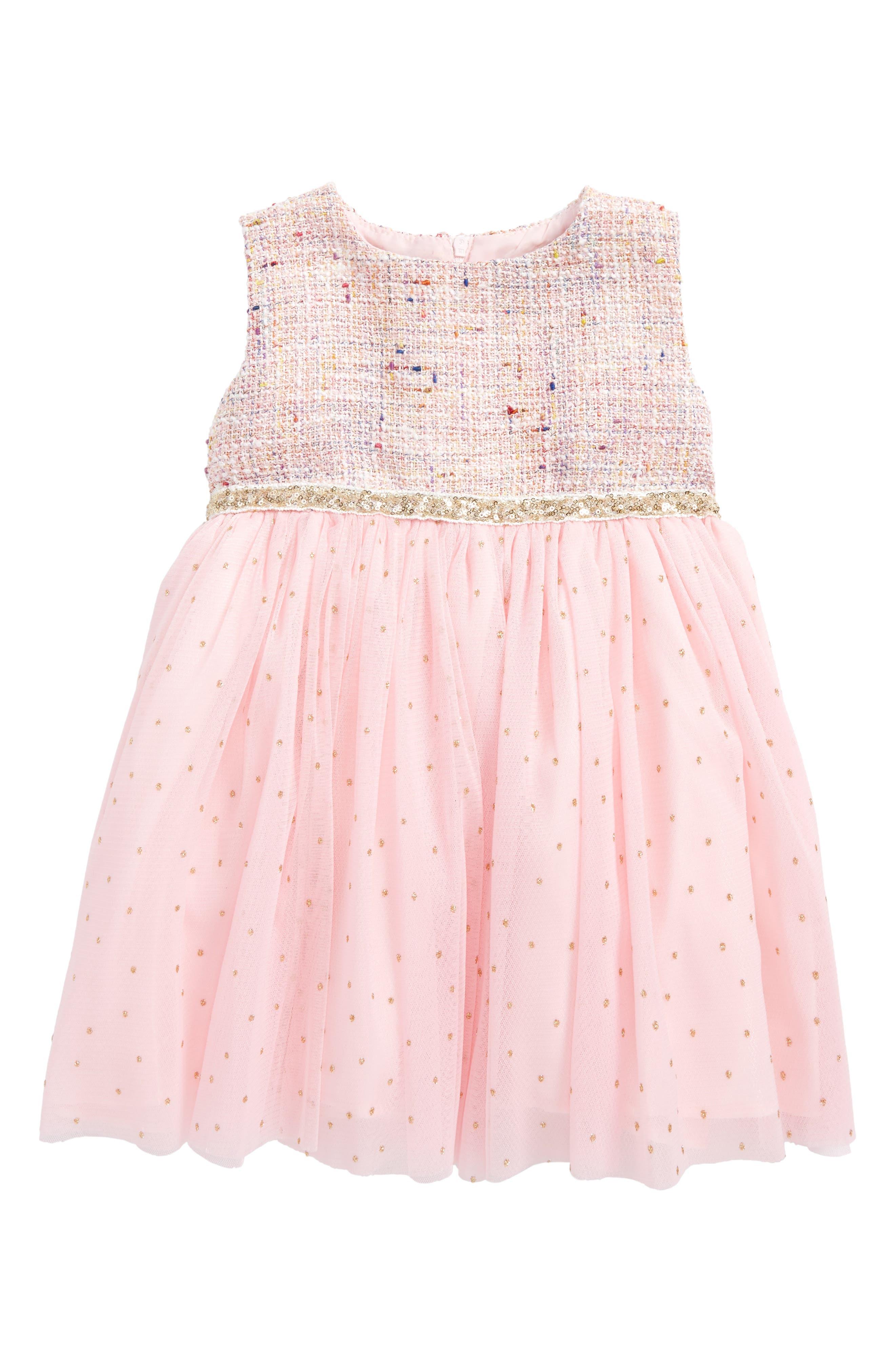 Dorissa Samantha Tweed Dress (Baby Girls)