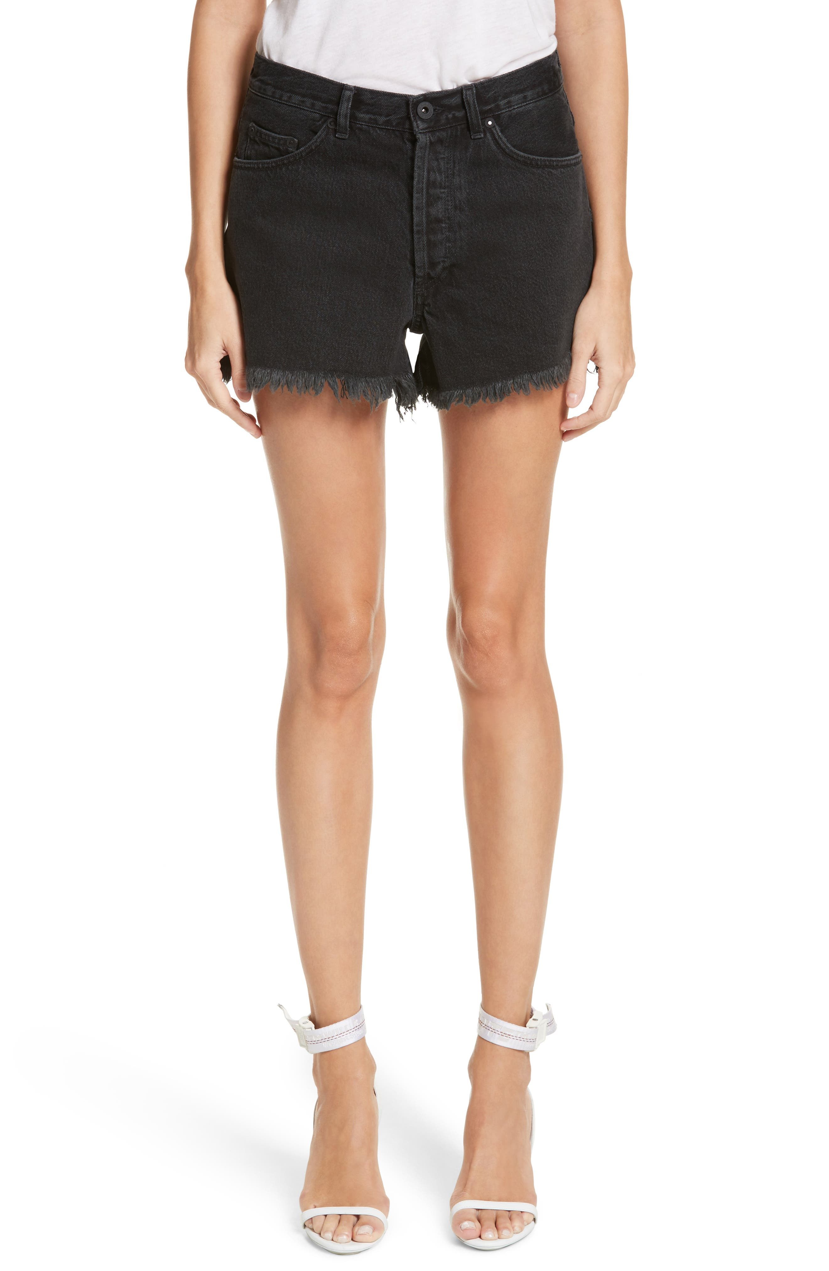 Off White Fern 5 Pocket Shorts,                         Main,                         color, Vintage Black