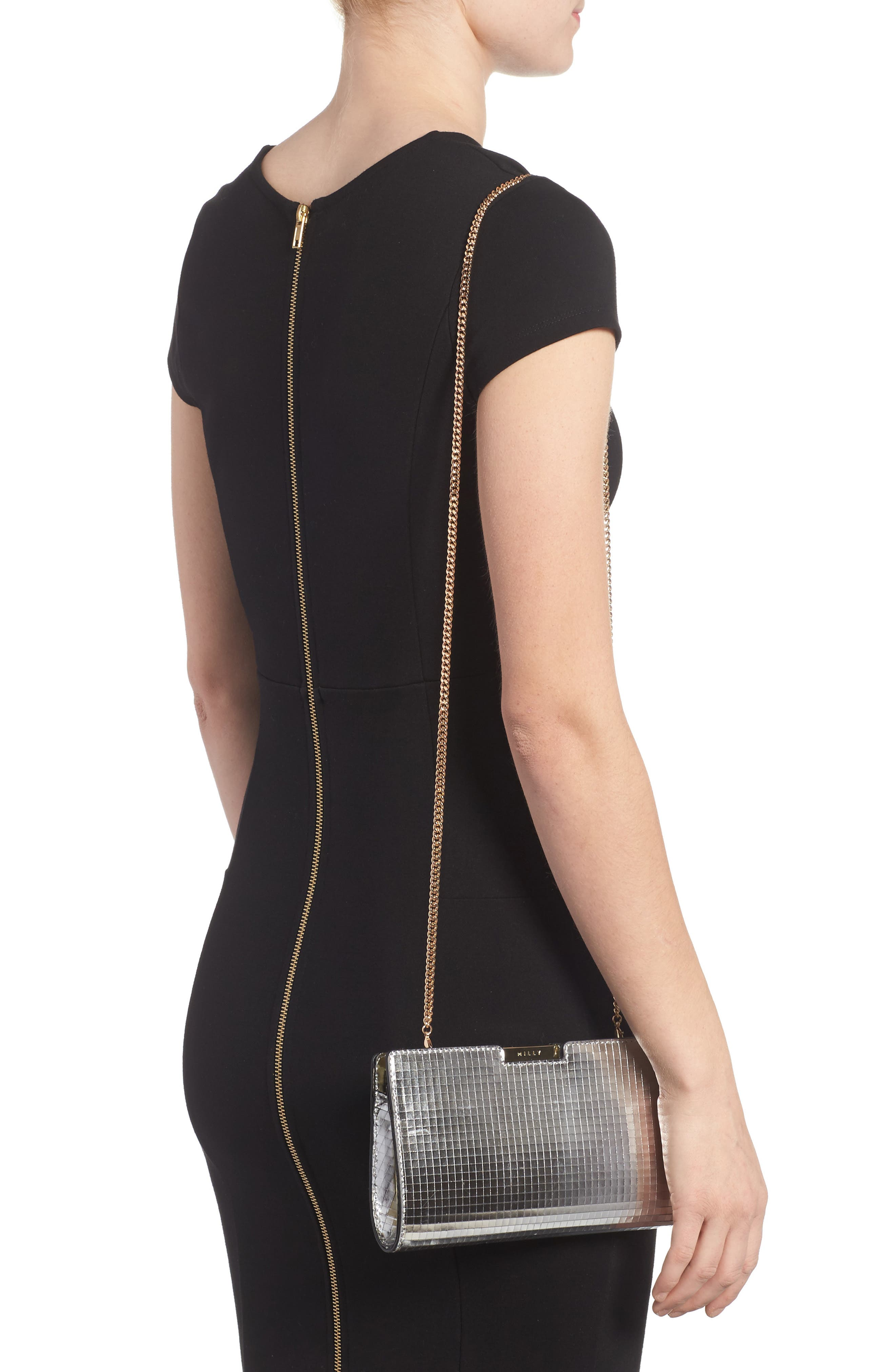 Alternate Image 2  - Milly Small Mirror Mosaic Leather Frame Clutch