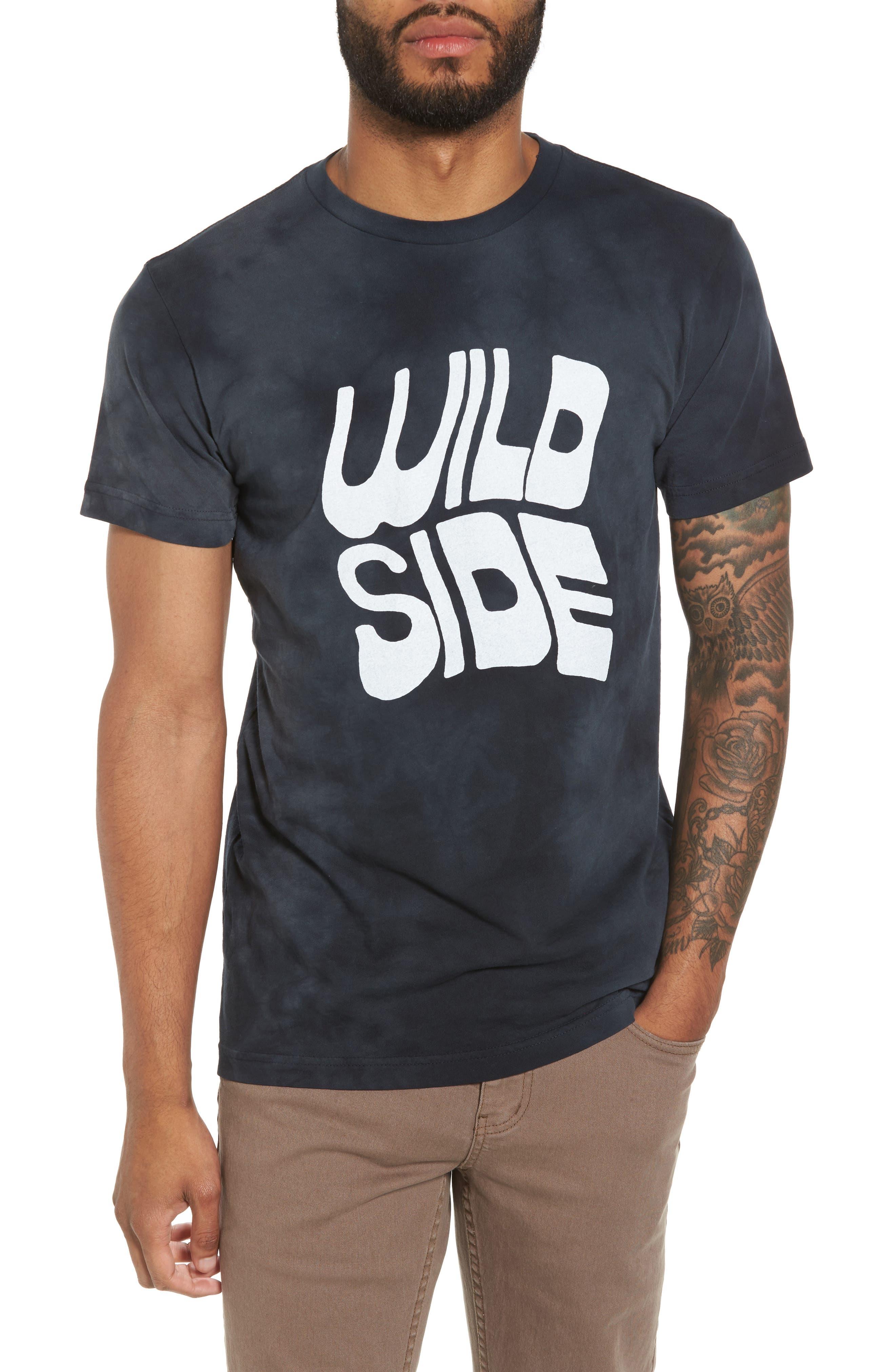 Wild Side Graphic T-Shirt,                             Main thumbnail 1, color,                             Black