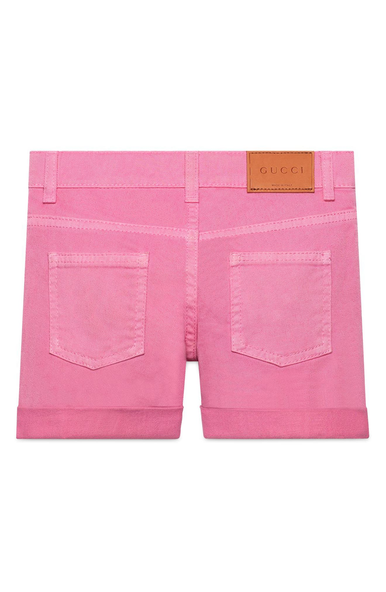 Pink Denim Cuffed Shorts,                             Alternate thumbnail 2, color,                             Copper/ Rose