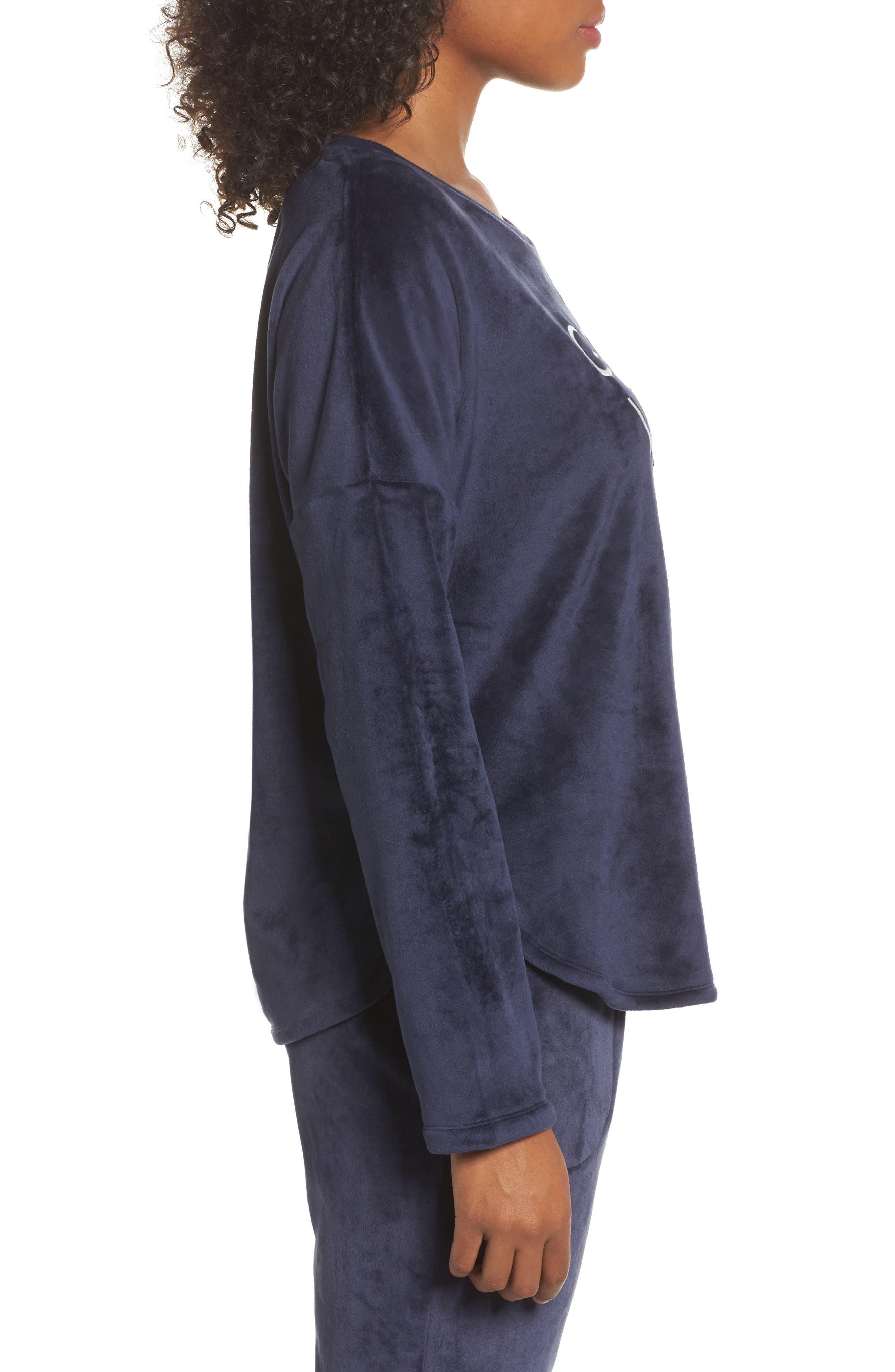 Alternate Image 3  - Room Service Luxury Plush Sweatshirt