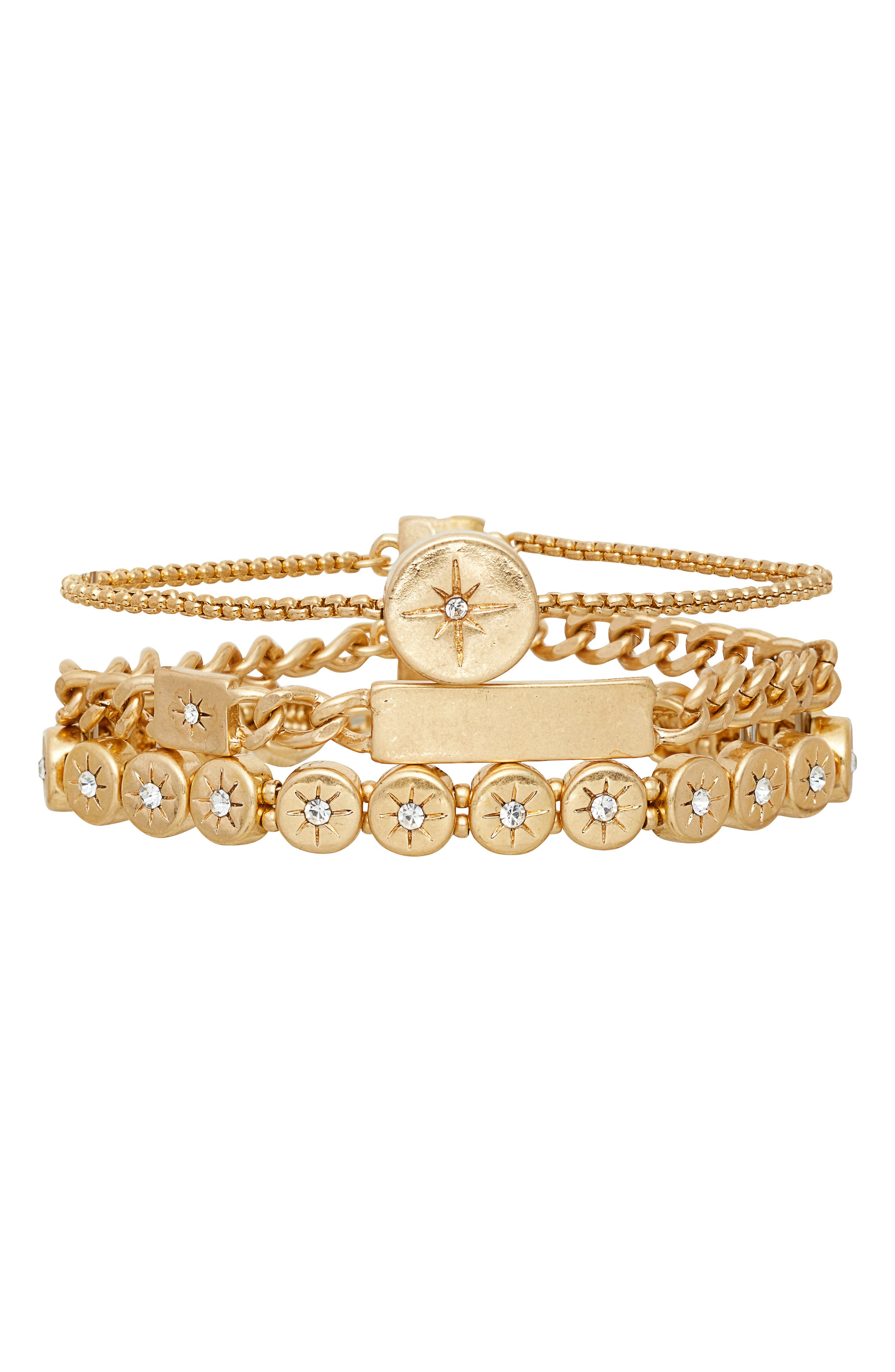 Treasure & Bond Multi Row Star Disc Bracelet