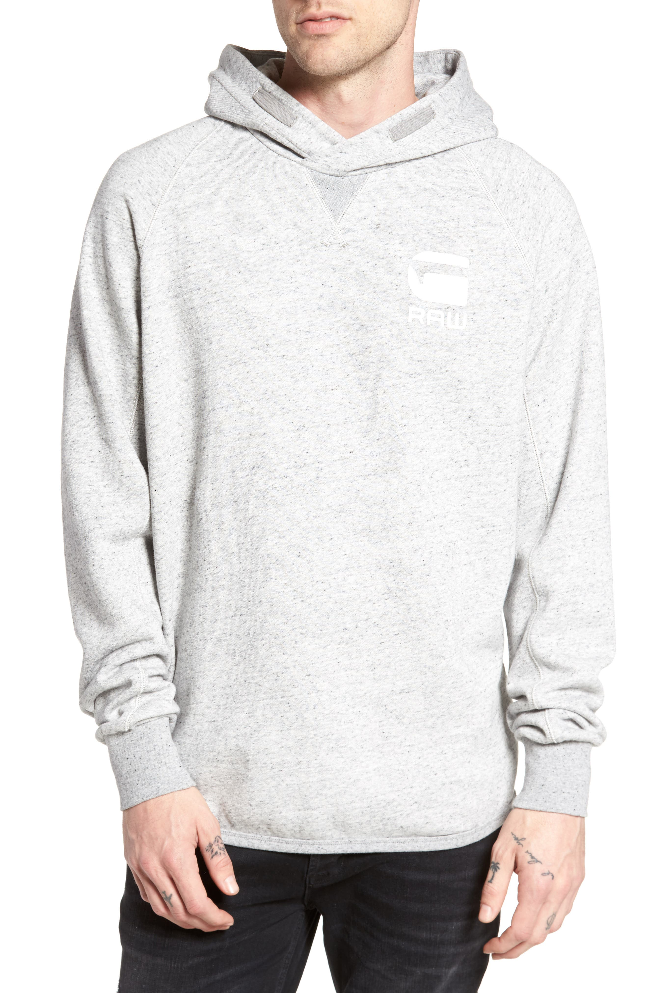 Callow Pullover Hoodie,                         Main,                         color, Grey Heather