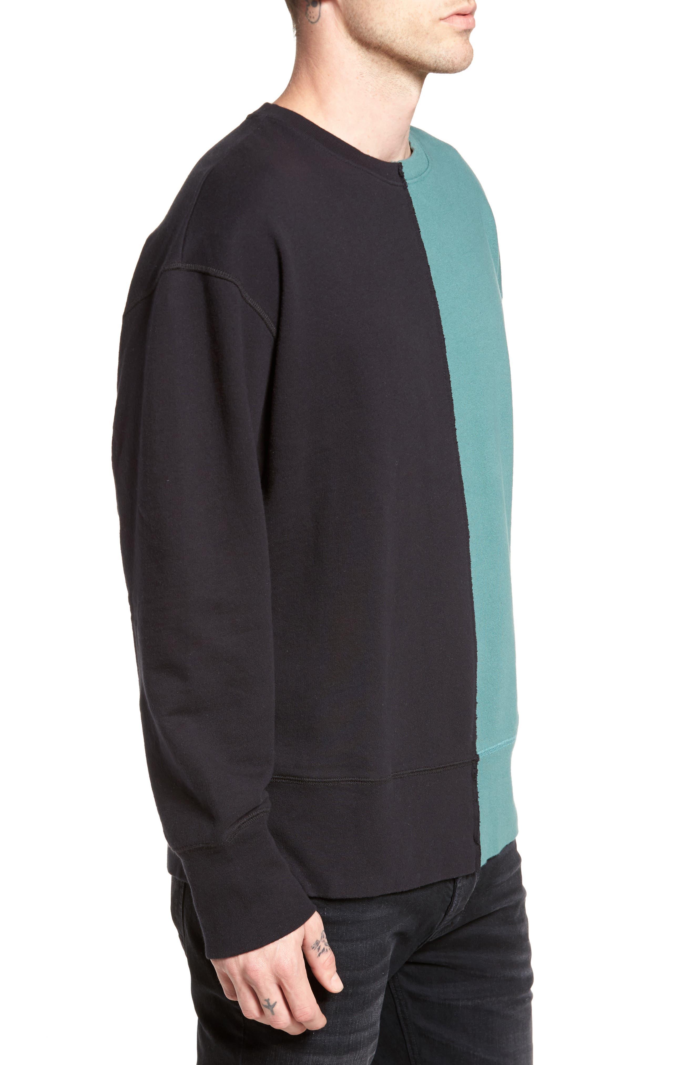 Colorblock T-Shirt,                             Alternate thumbnail 3, color,                             Black Rock / Green Pine