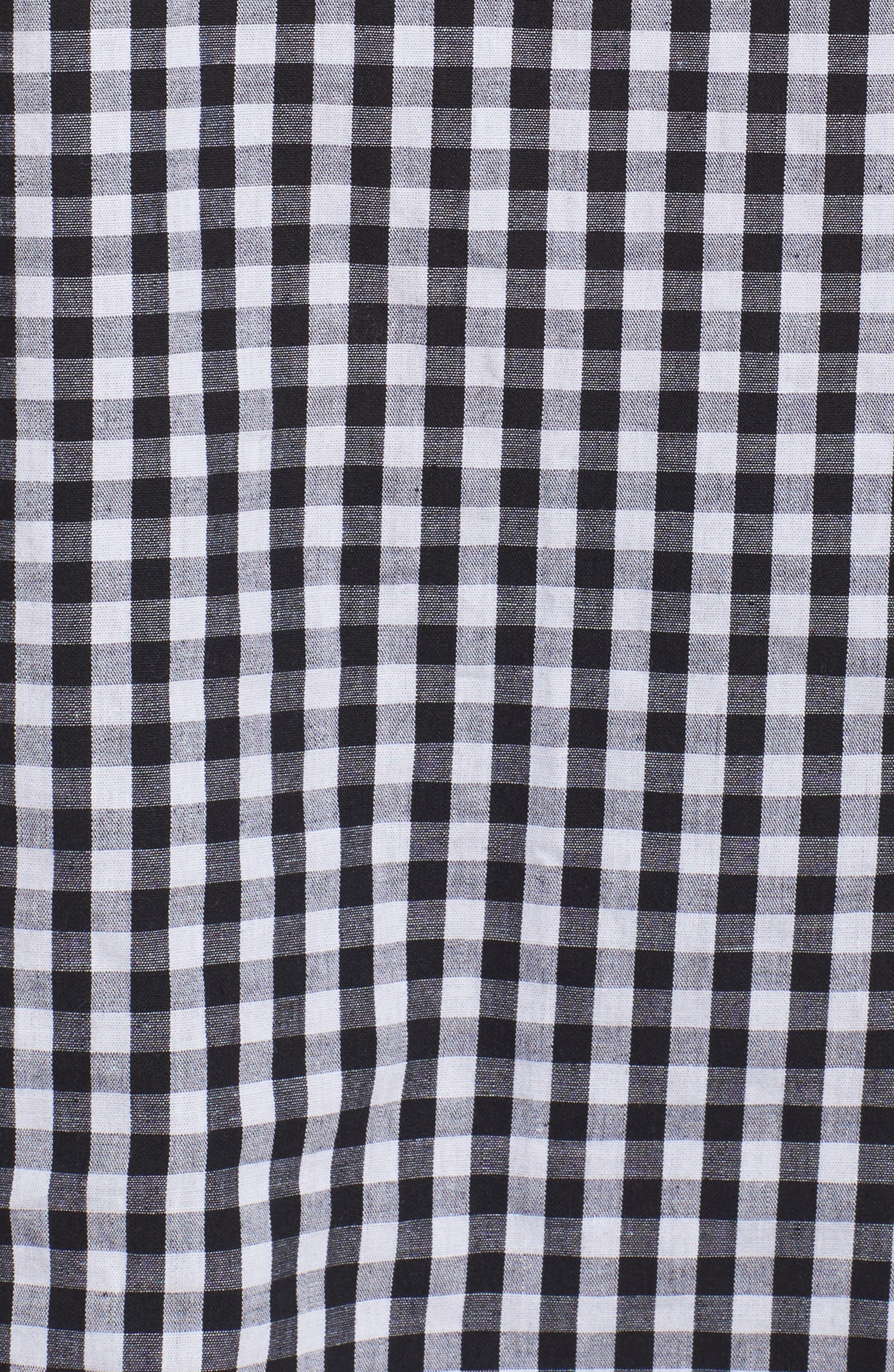 Bell Sleeve Off the Shoulder Shirt,                             Alternate thumbnail 6, color,                             Black / White