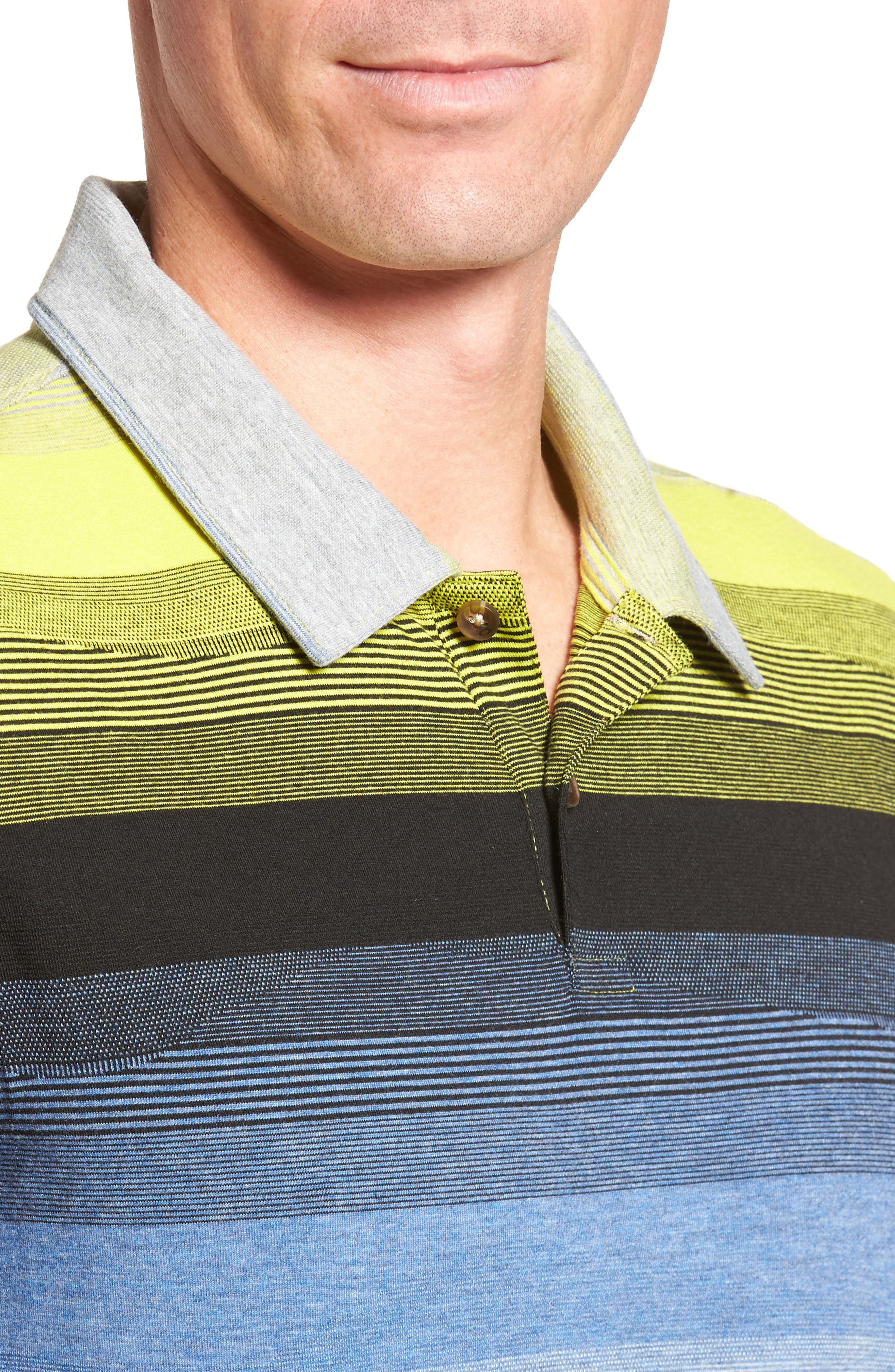 Lateral Polo Shirt,                             Alternate thumbnail 3, color,                             Laser