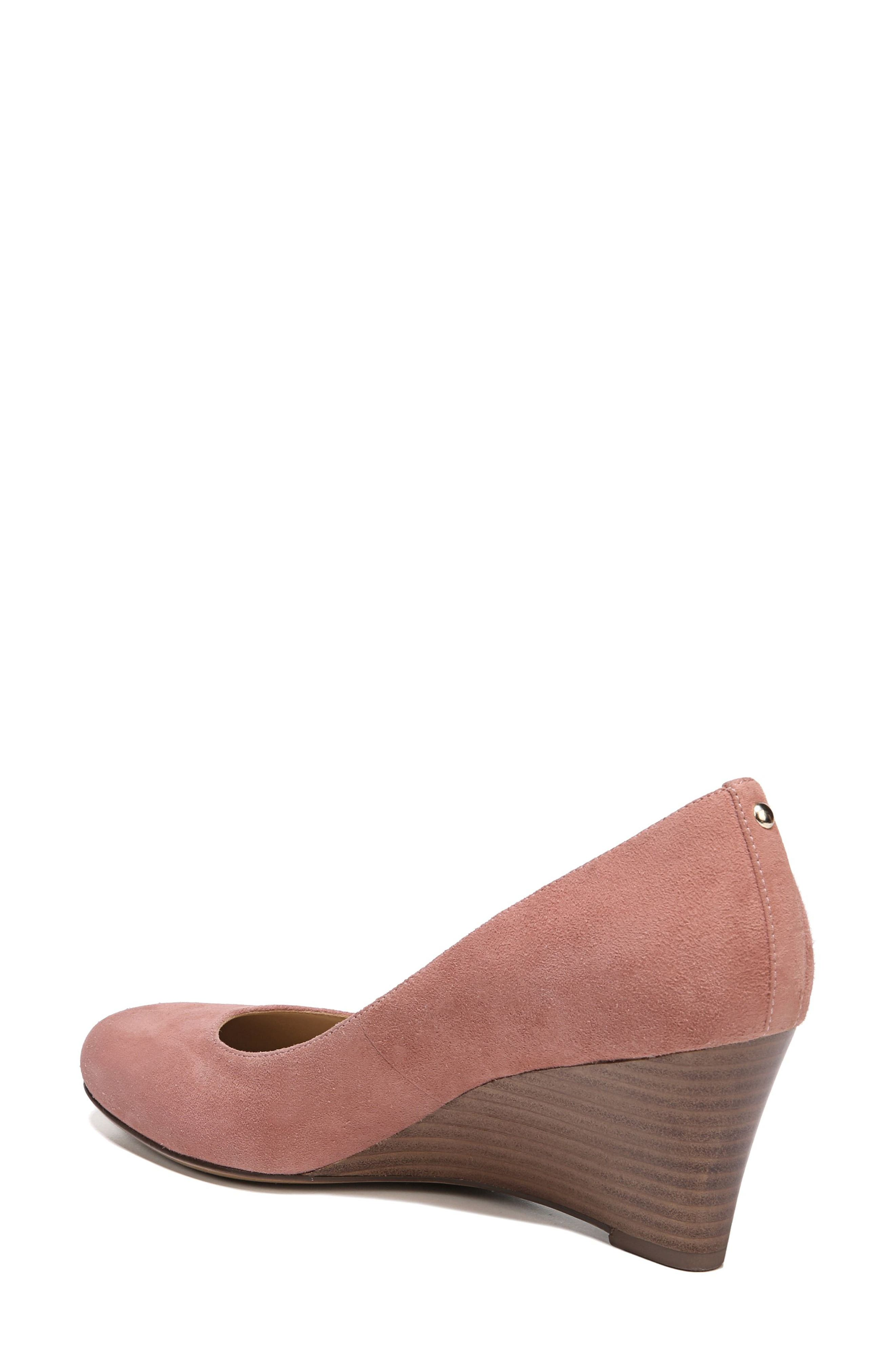 Emily Wedge Pump,                             Alternate thumbnail 2, color,                             Peony Pink Suede