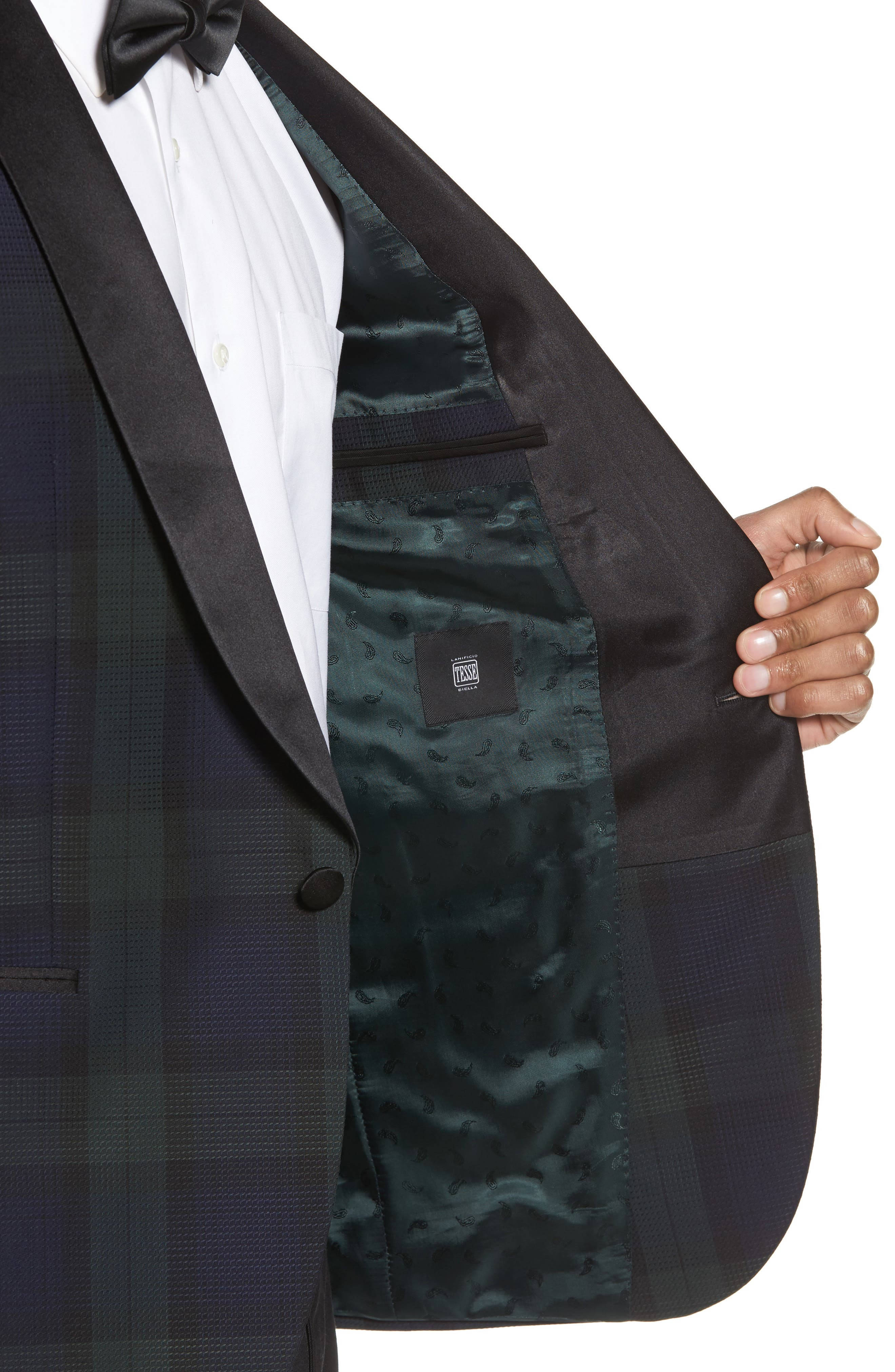 Nemir Classic Fit Wool Dinner Jacket,                             Alternate thumbnail 4, color,                             Green