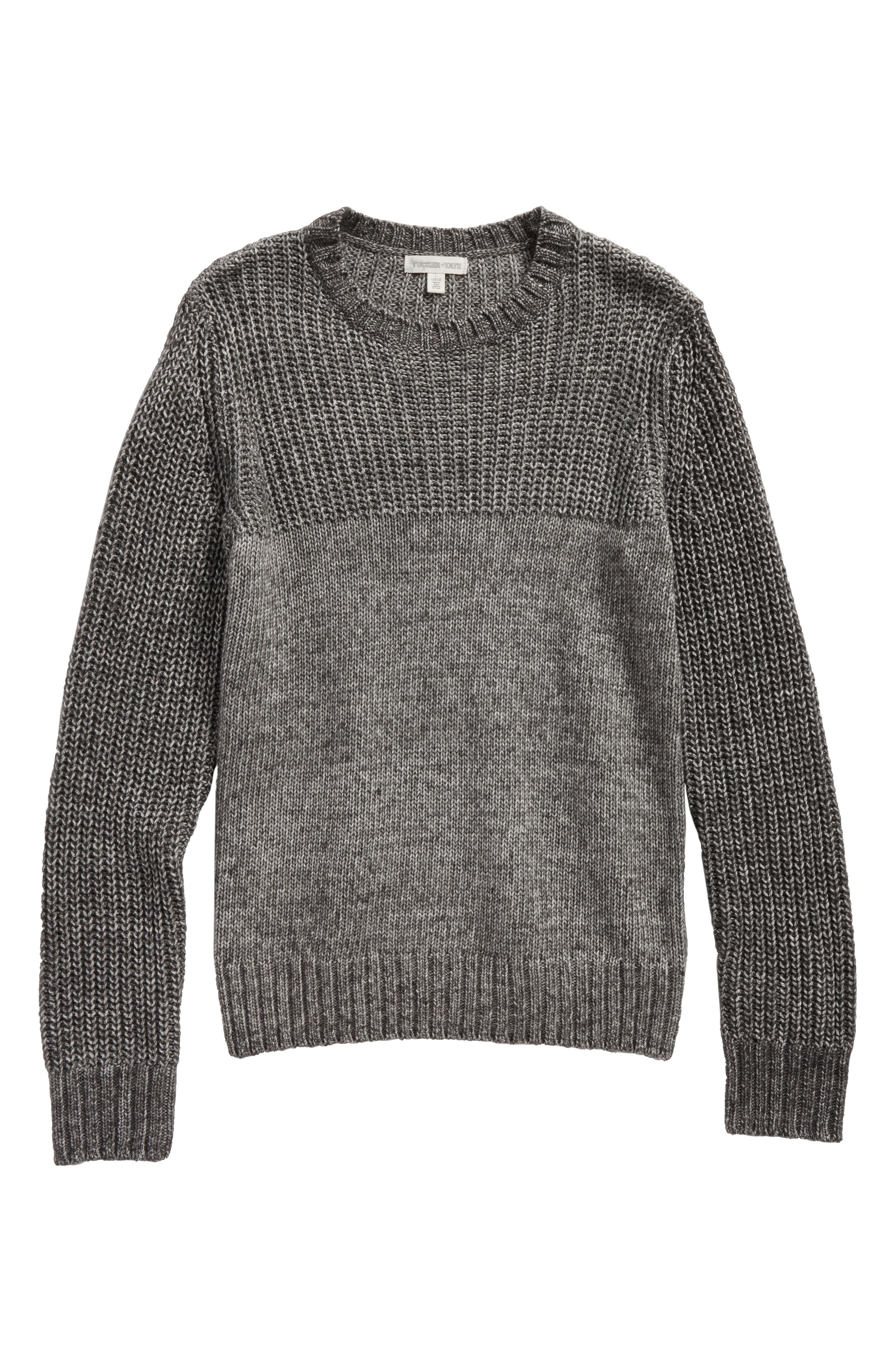 Alternate Image 1 Selected - Tucker + Tate Mix Knit Sweater (Big Boys)