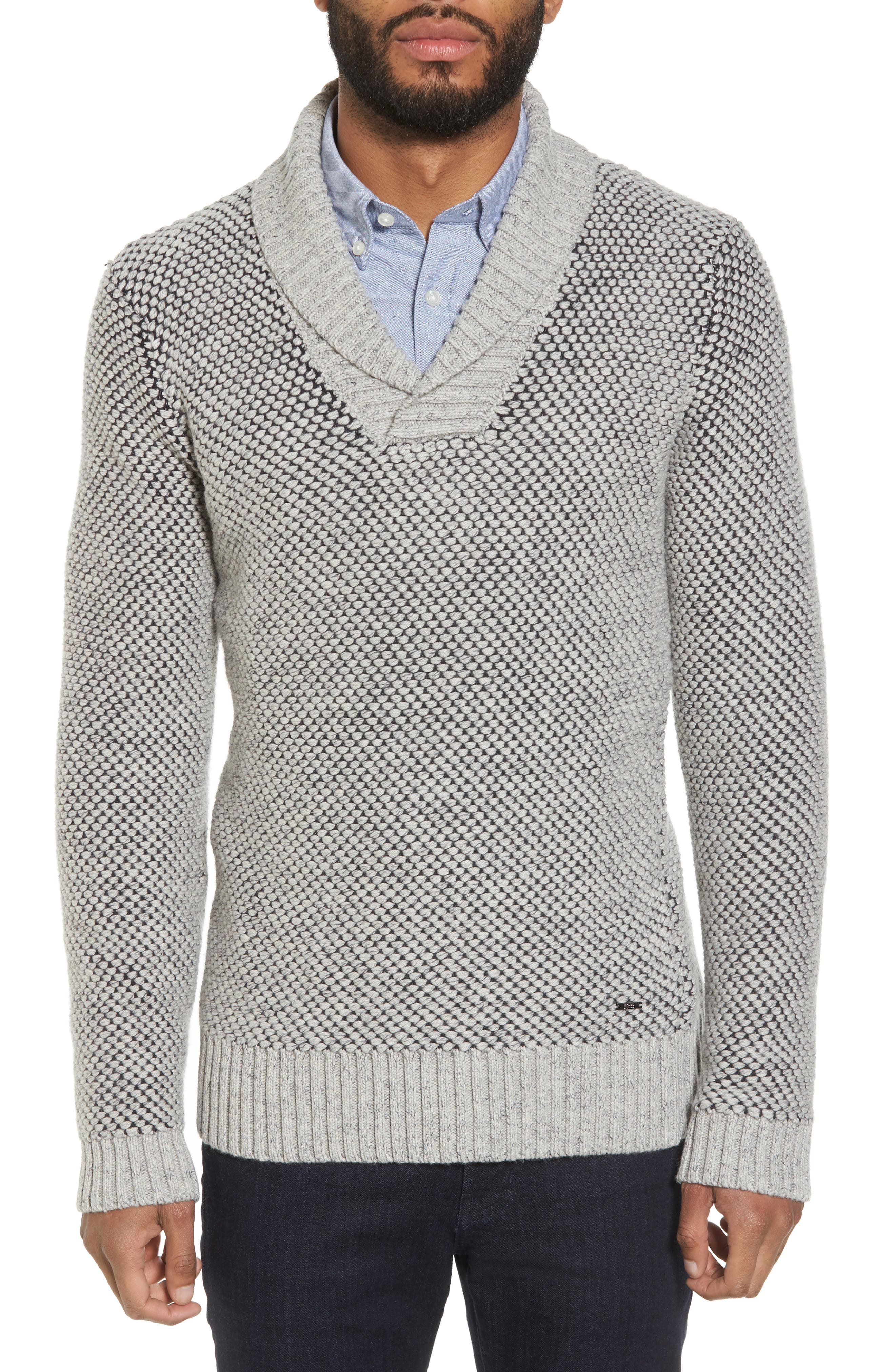 BOSS Noras Slim Fit Cashmere Blend Sweater