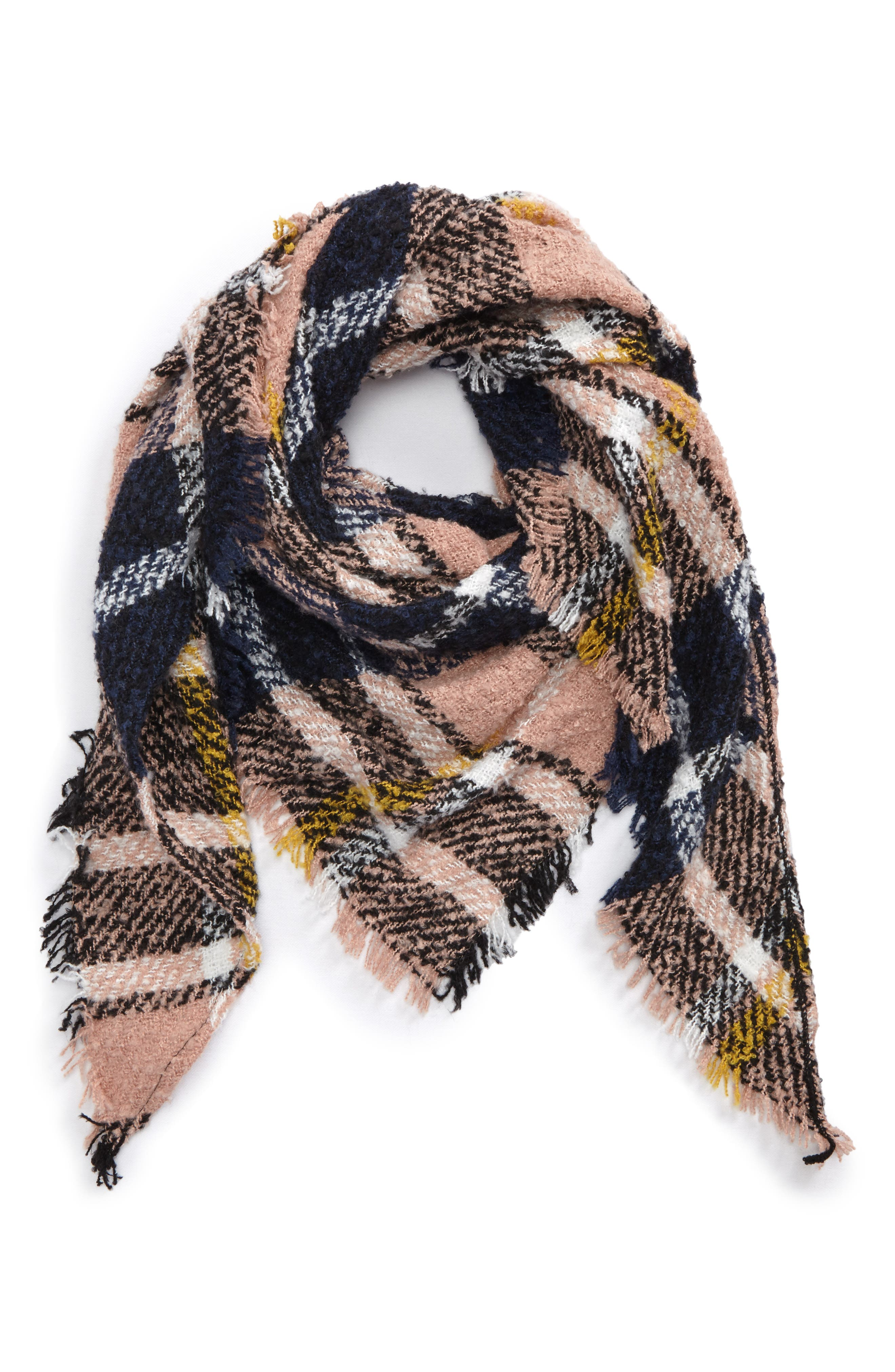 BP. Bouclé Plaid Triangle Scarf