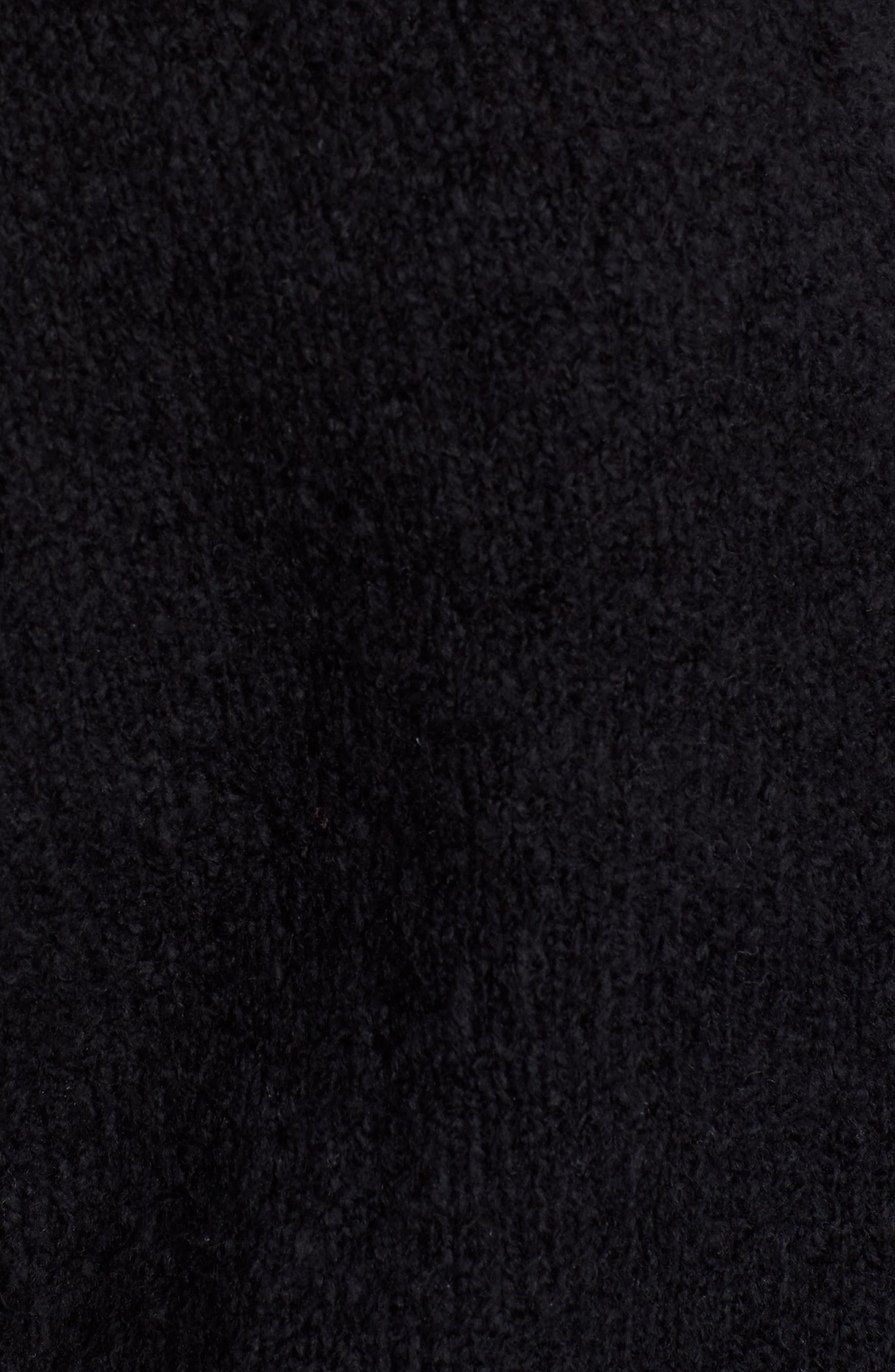 Organic Cotton Blend Cardigan,                             Alternate thumbnail 5, color,                             Black