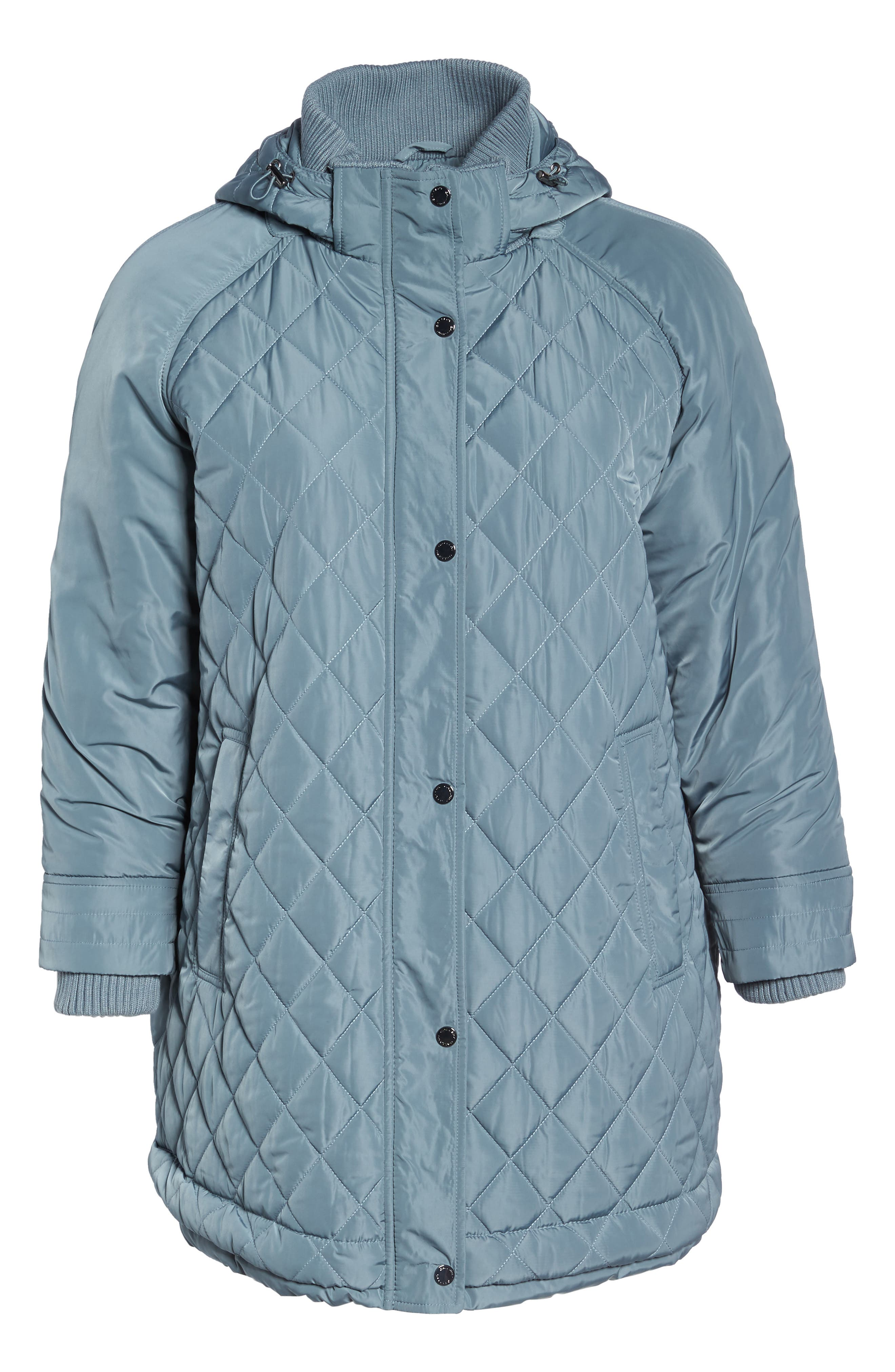 Quilted Hooded Jacket,                             Alternate thumbnail 6, color,                             Patina