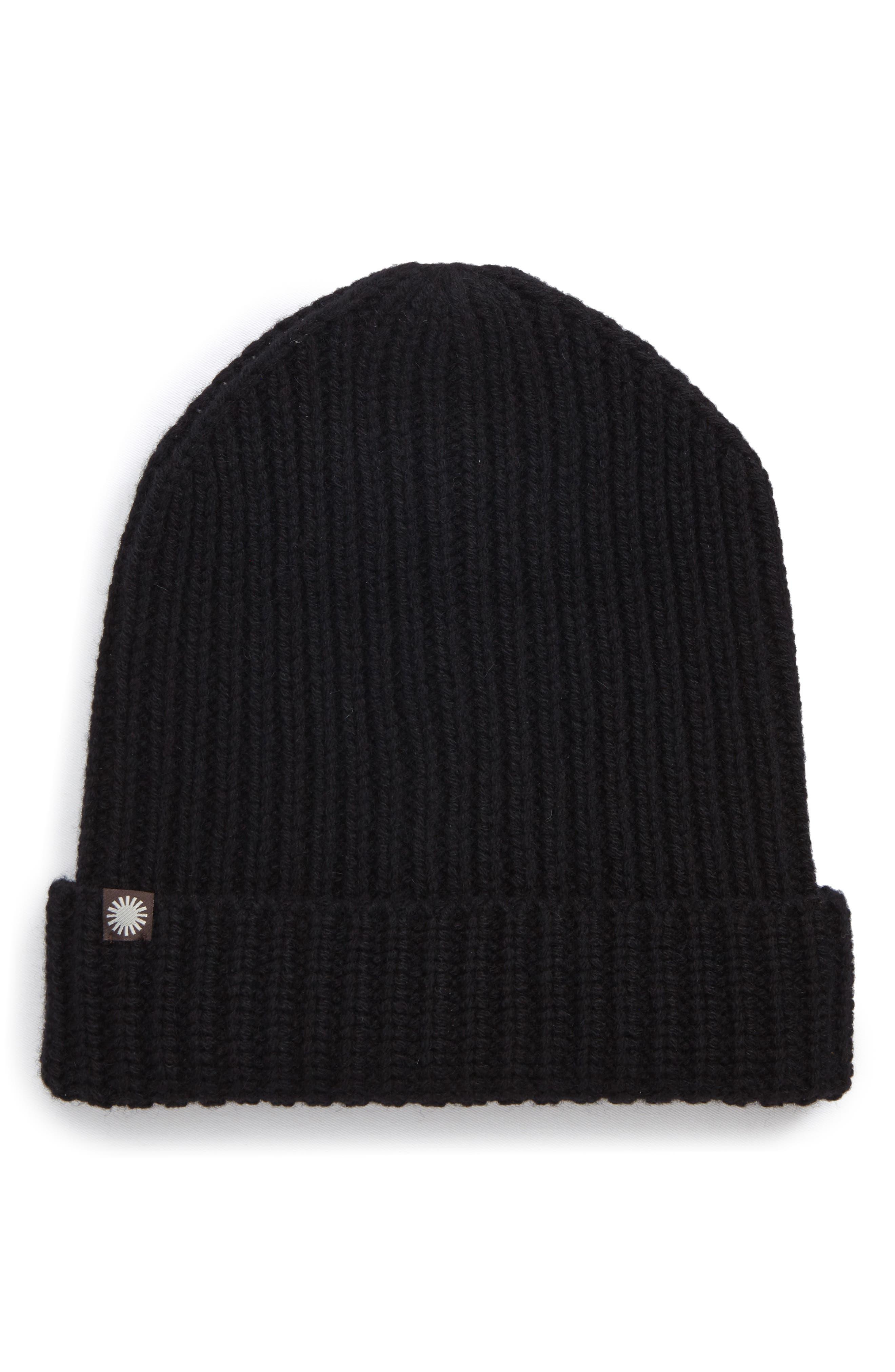 Cardi Wool Blend Beanie,                             Main thumbnail 1, color,                             Black