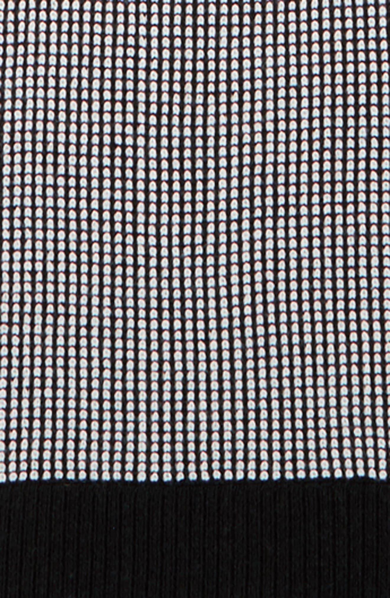 Merino Wool Scarf,                             Alternate thumbnail 5, color,                             Black/ Soft White