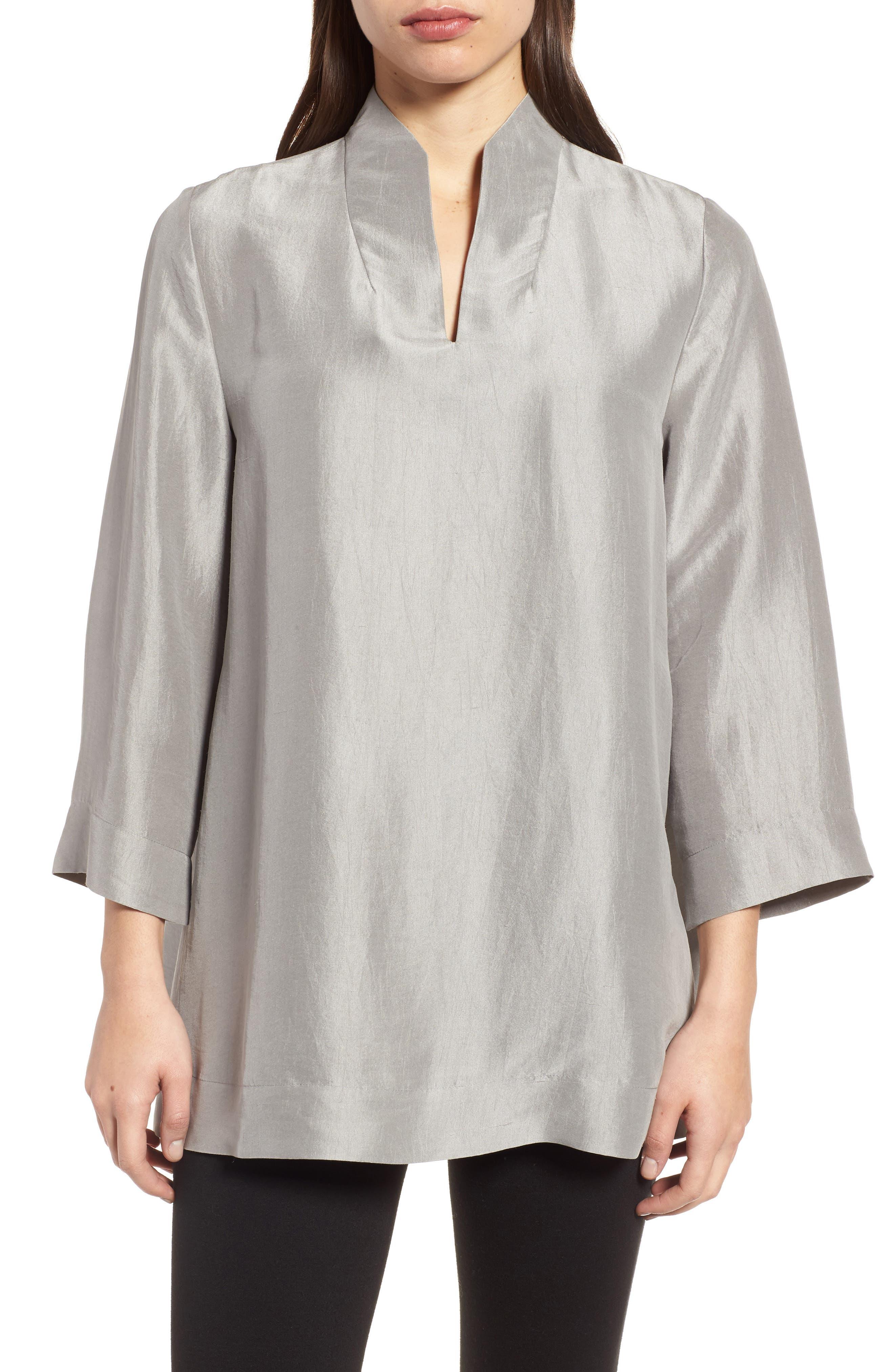 Eileen Fisher Silk Top (Regular & Petite)