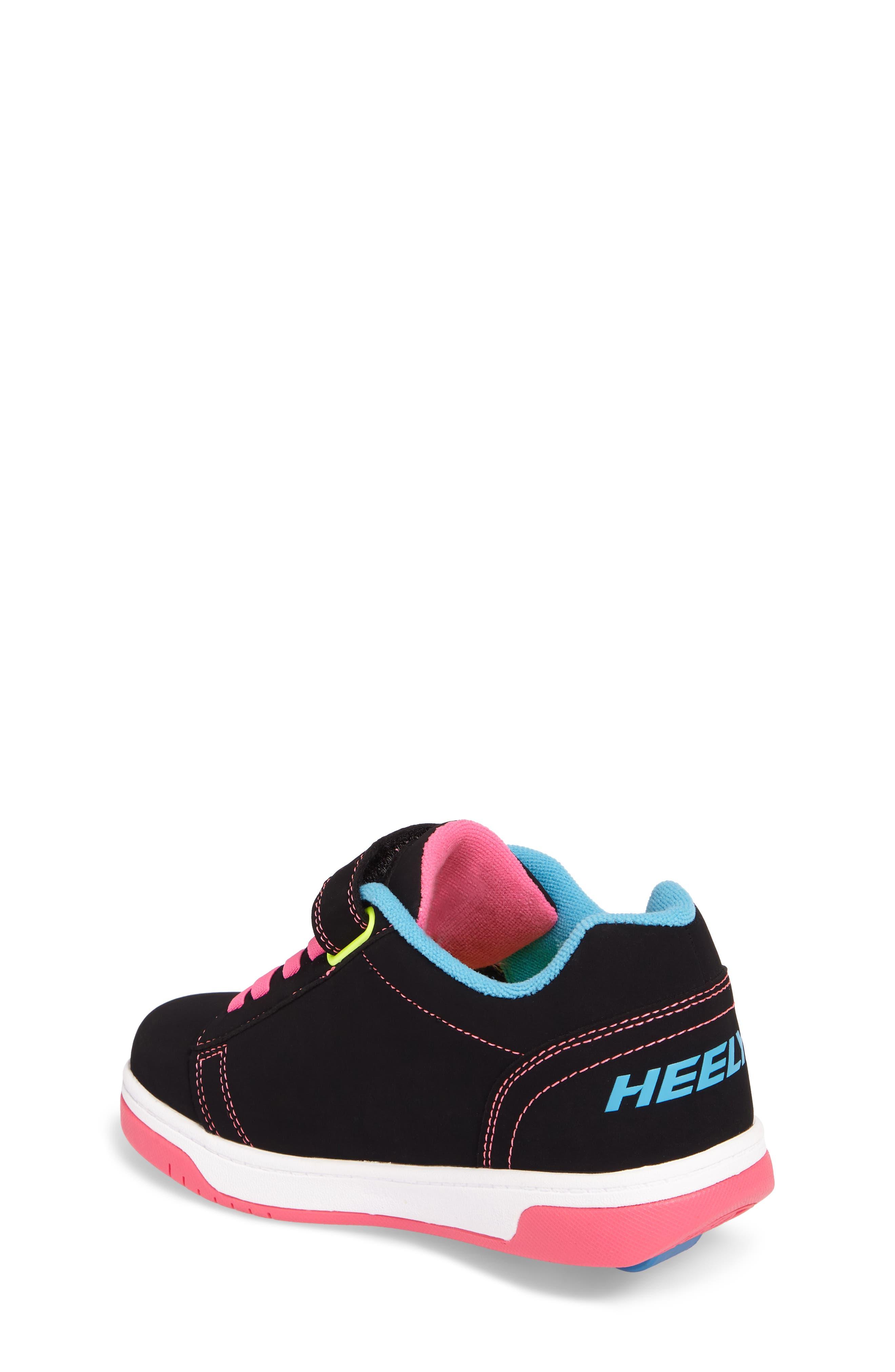 Dual Up Wheeled Skate Sneaker,                             Alternate thumbnail 2, color,                             Black/ Neon Multi