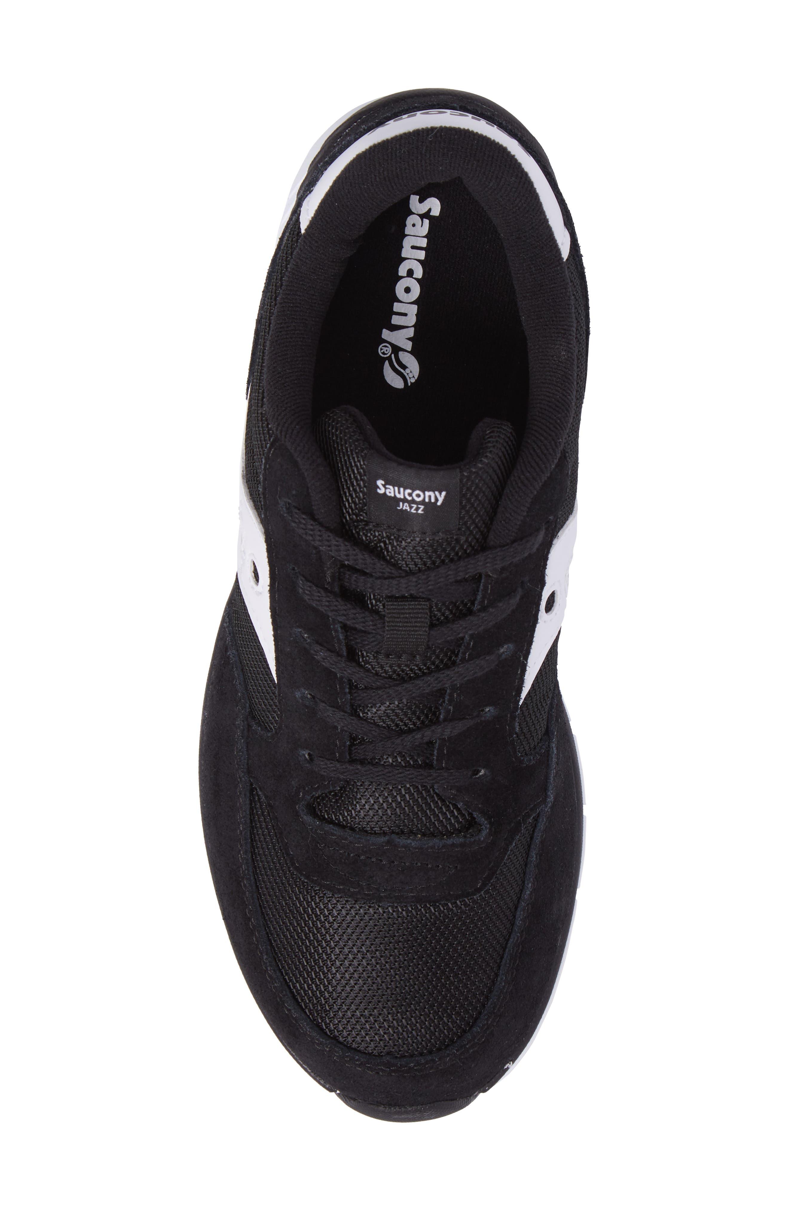 Jazz Lite Athletic Shoe,                             Alternate thumbnail 5, color,                             Black/ Black