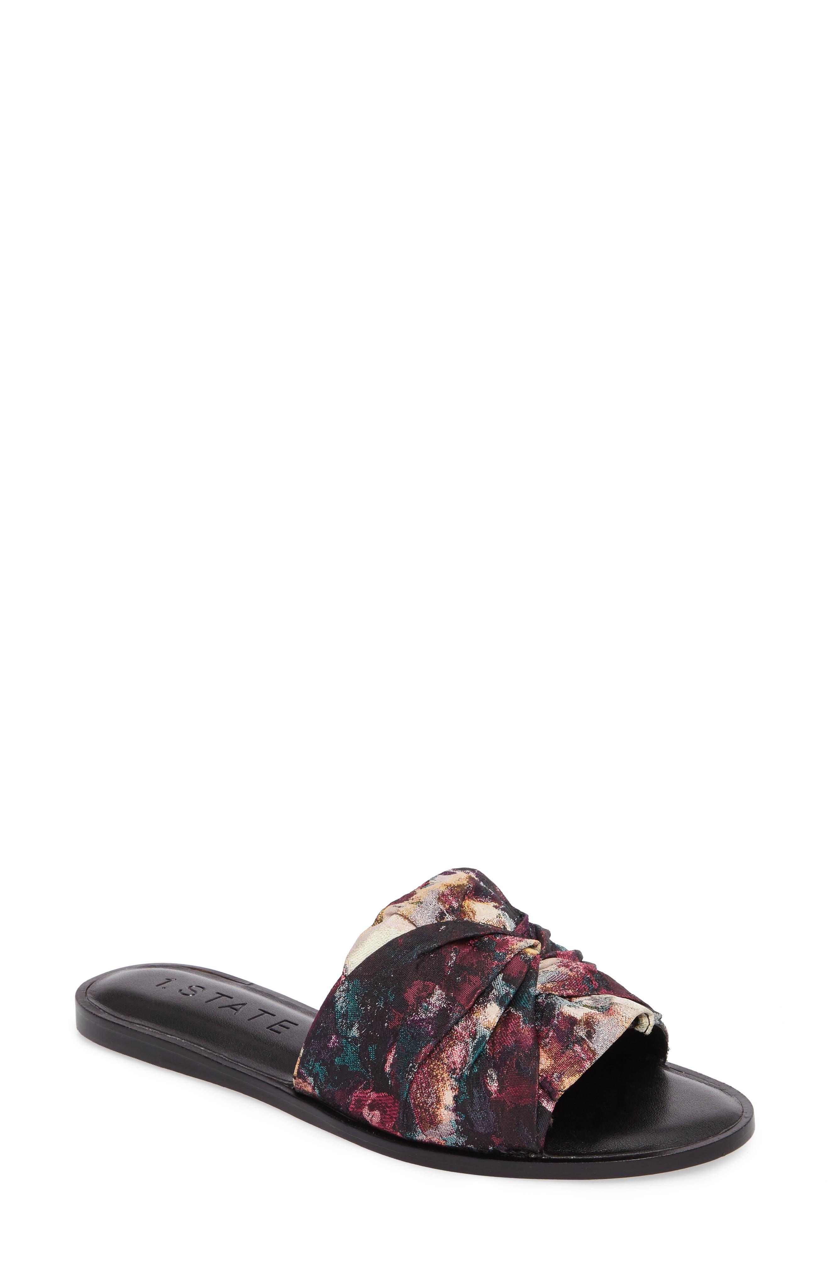 Chevonn Slide Sandal,                         Main,                         color, Floral Print