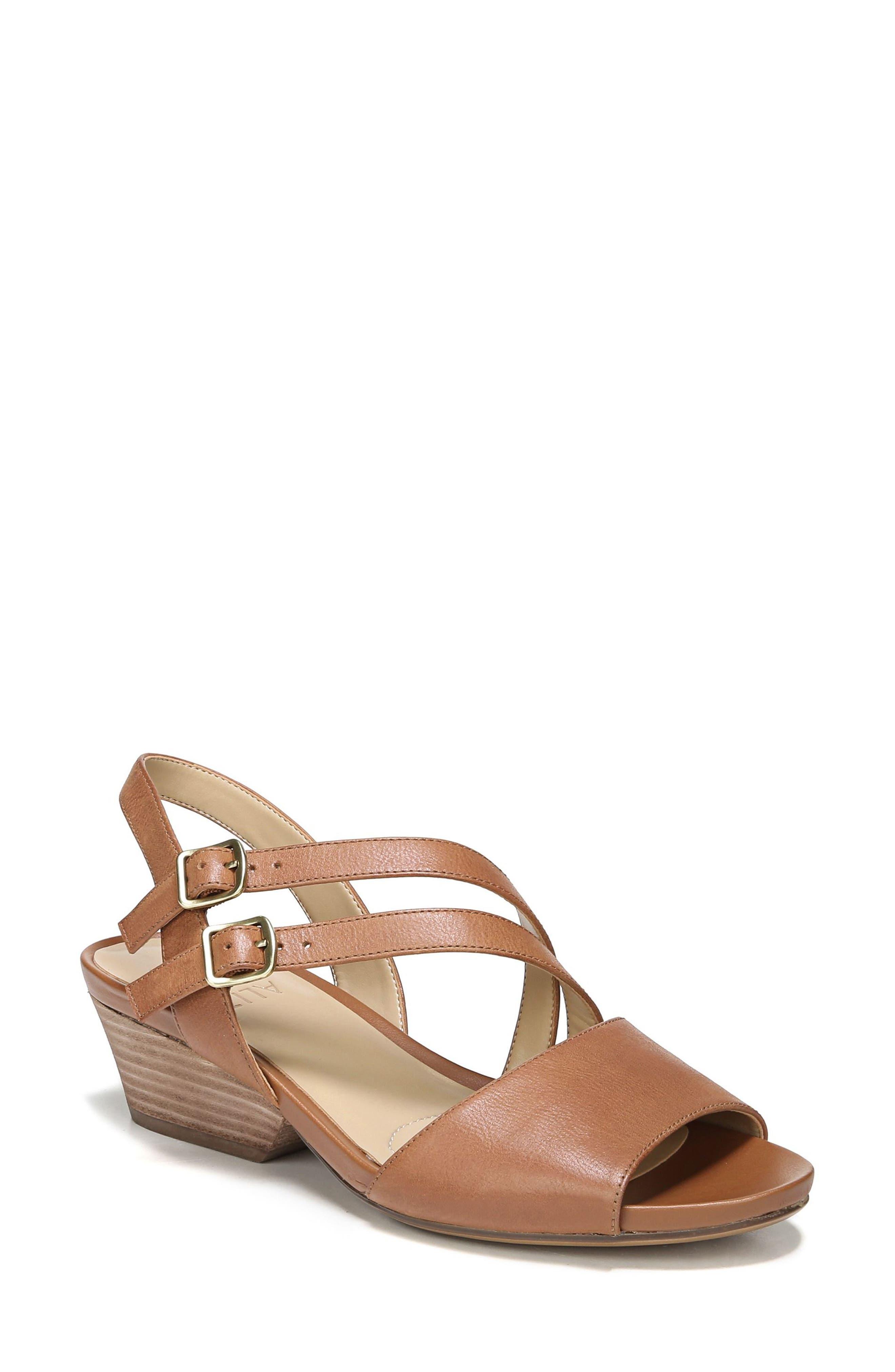 Gigi Sandal,                             Main thumbnail 1, color,                             Light Maple Leather