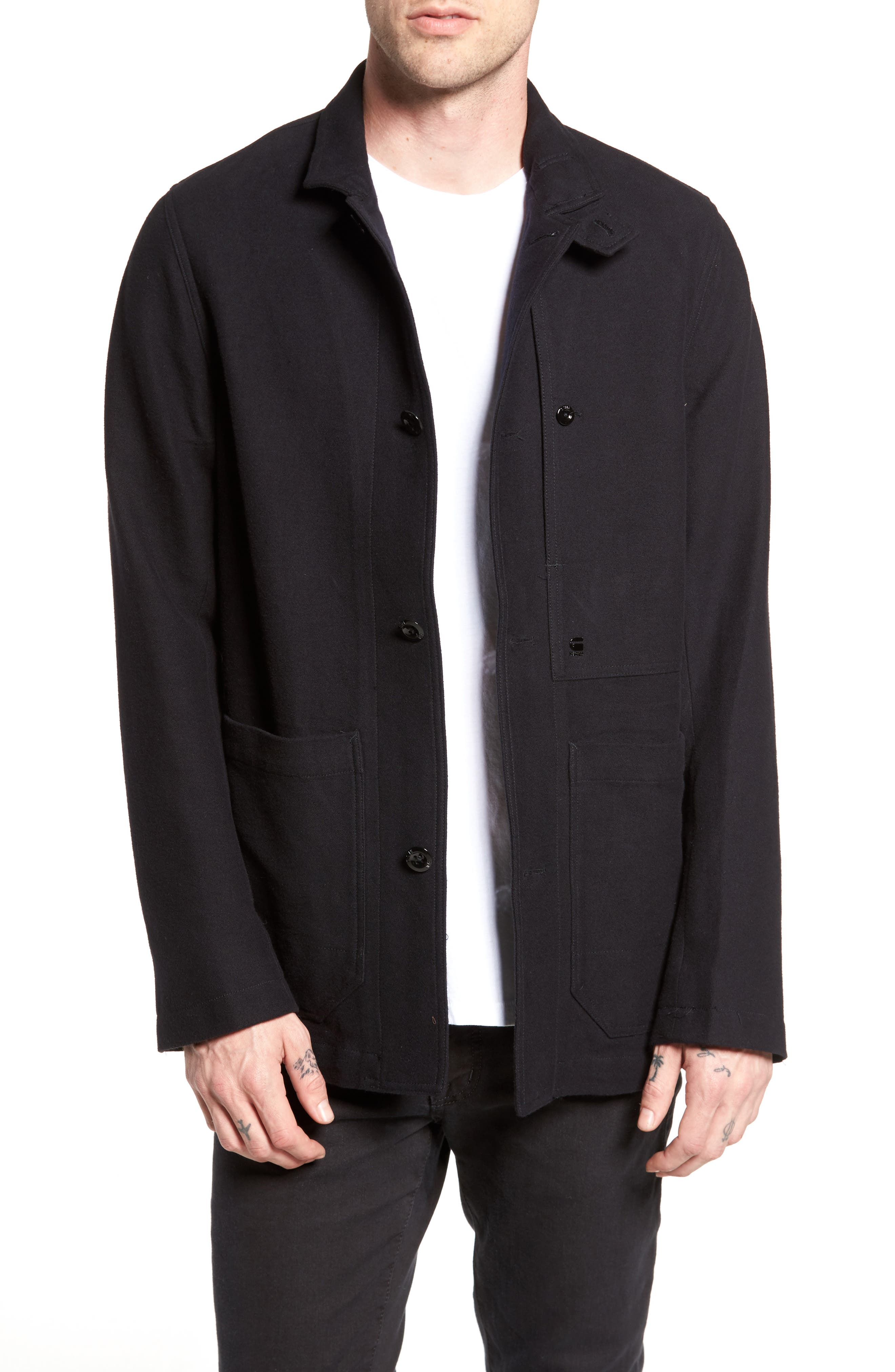 Bronson Worker Blazer,                             Main thumbnail 1, color,                             Black